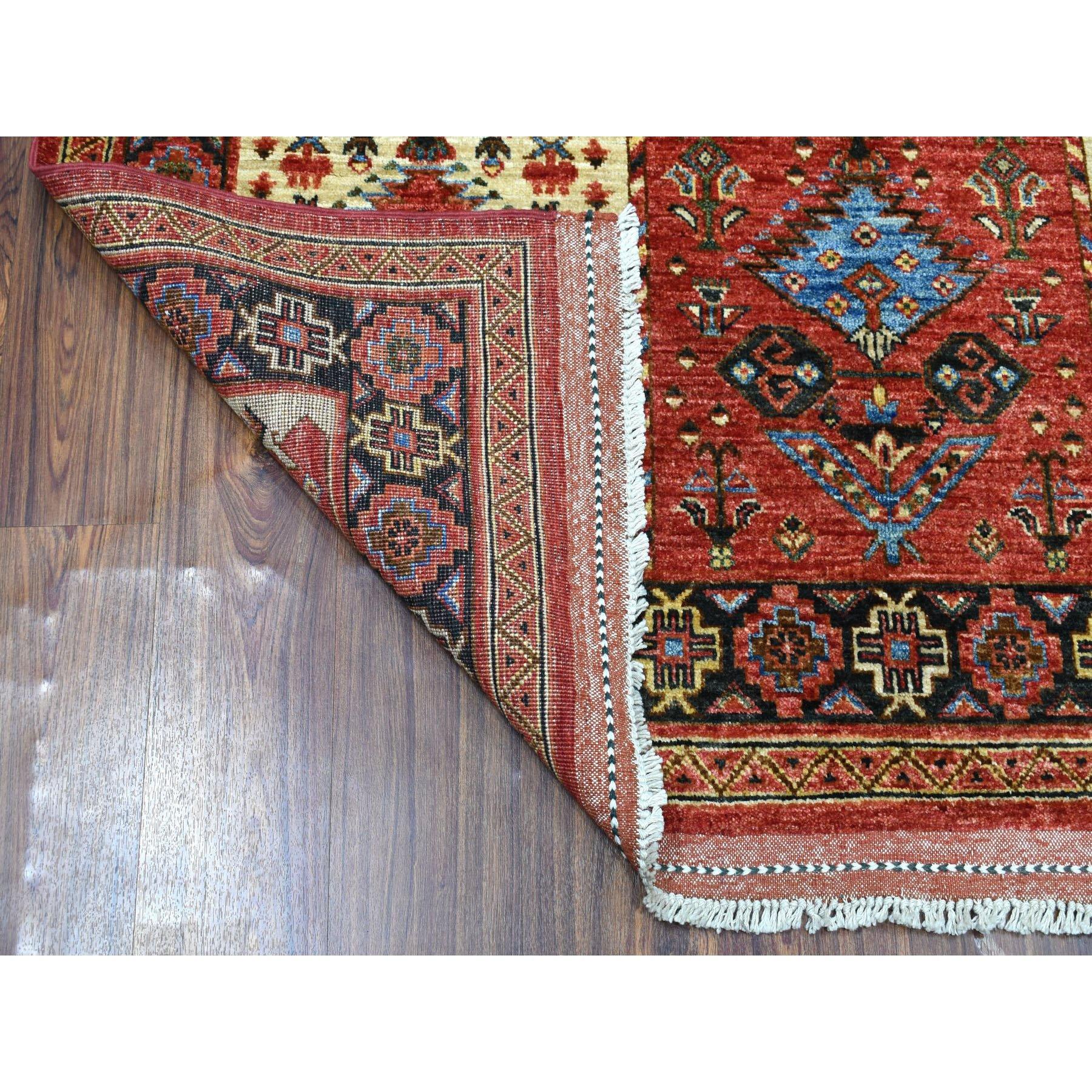 5-x6-9  Red Prayer Design Afghan Ersari Hand Knotted Pure Wool Oriental Rug