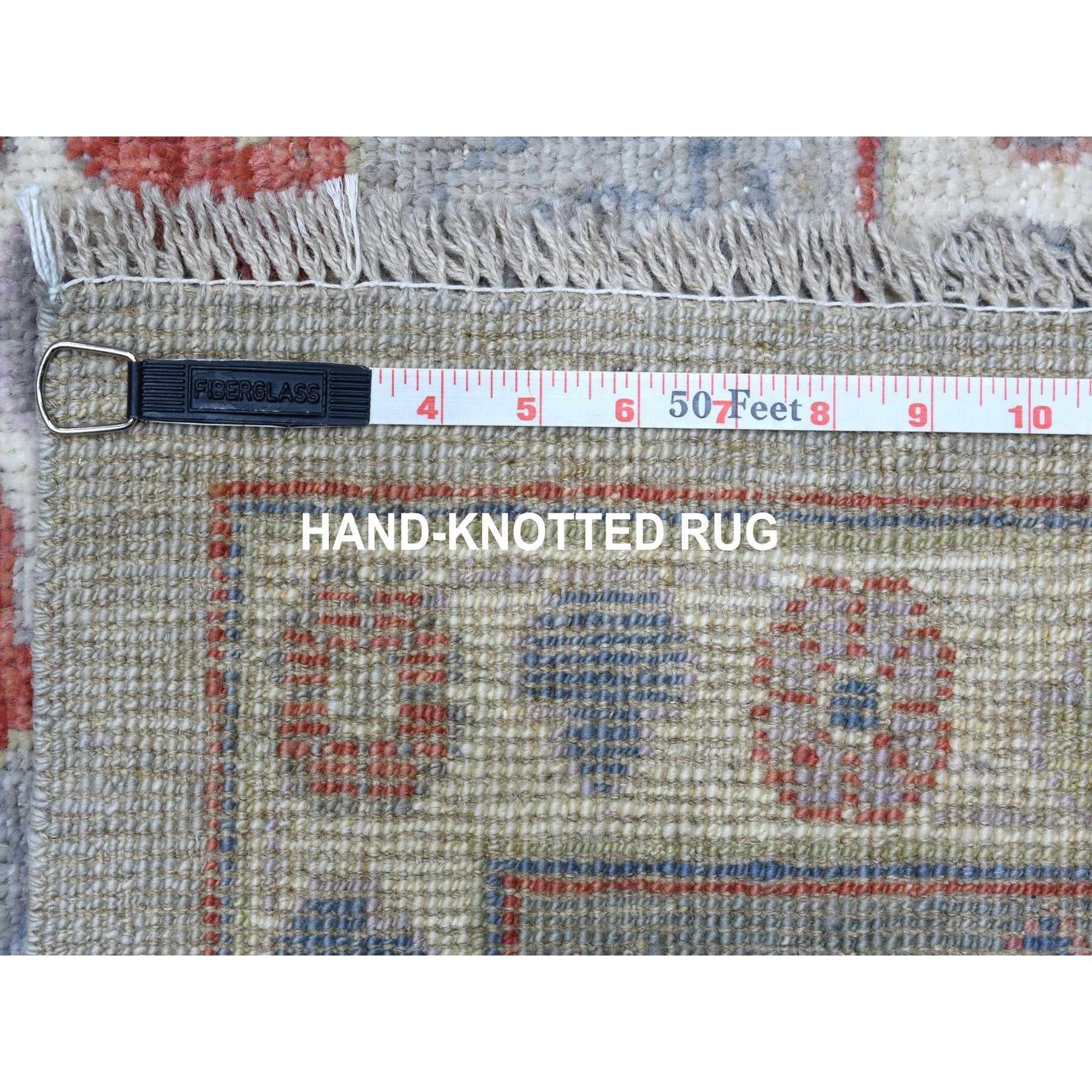 9-2 x11-9  Gray Angora Oushak With Soft Velvety wool Hand Knotted Oriental Rug