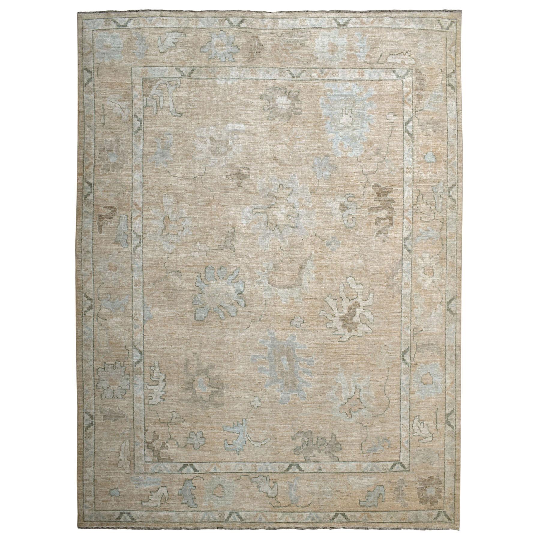 "11'10""X14'3"" Oversized Angora Oushak Soft Velvety Wool Hand Knotted Oriental Rug moaec6e8"