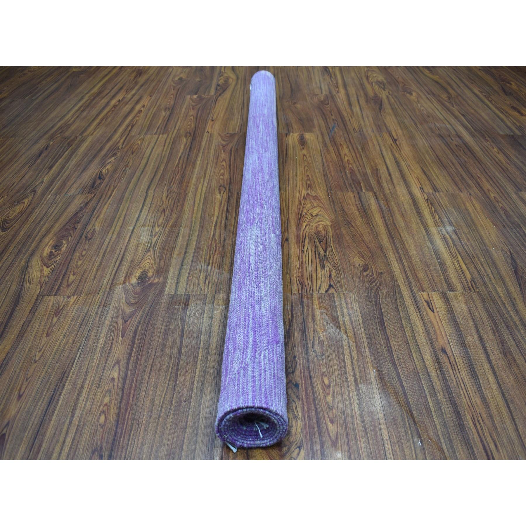 5-8 x8- Lavender Shades Flat Weave Kilim Pure Wool Hand Woven Oriental Rug