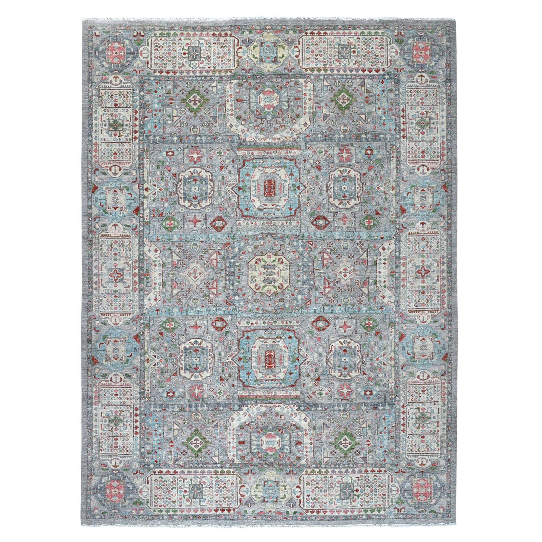 "8'10""x12' Peshawar With Mamluk Design With Pop Of Color Hand Knotted Oriental Rug"