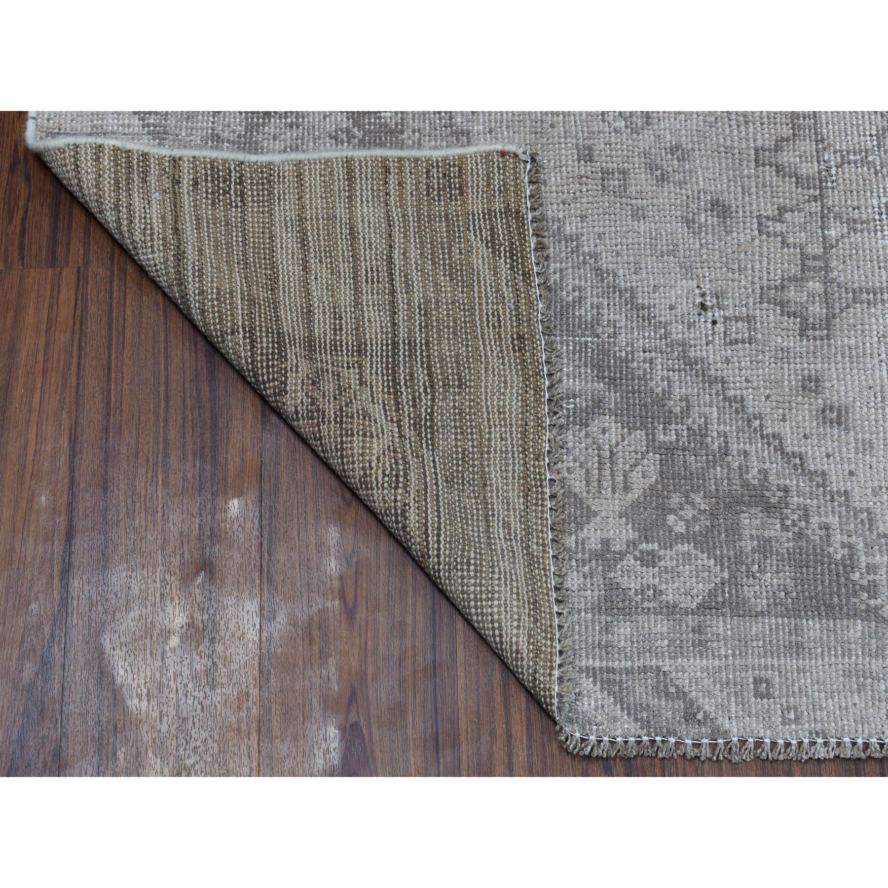 4-10 x7-3  Vintage And Worn Down Distressed Colors Persian Qashqai Hand Knotted Bohemian Rug