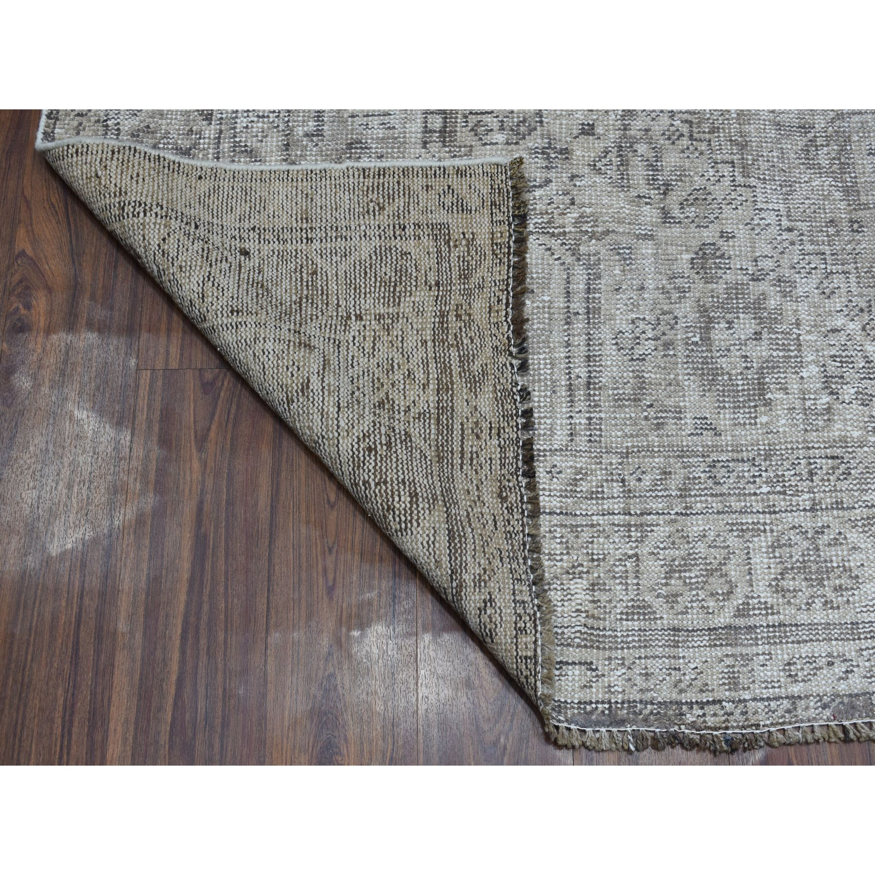 6-10 x10-2  Vintage And Worn Down Distressed Colors Persian Shiraz Hand Knotted Bohemian Rug