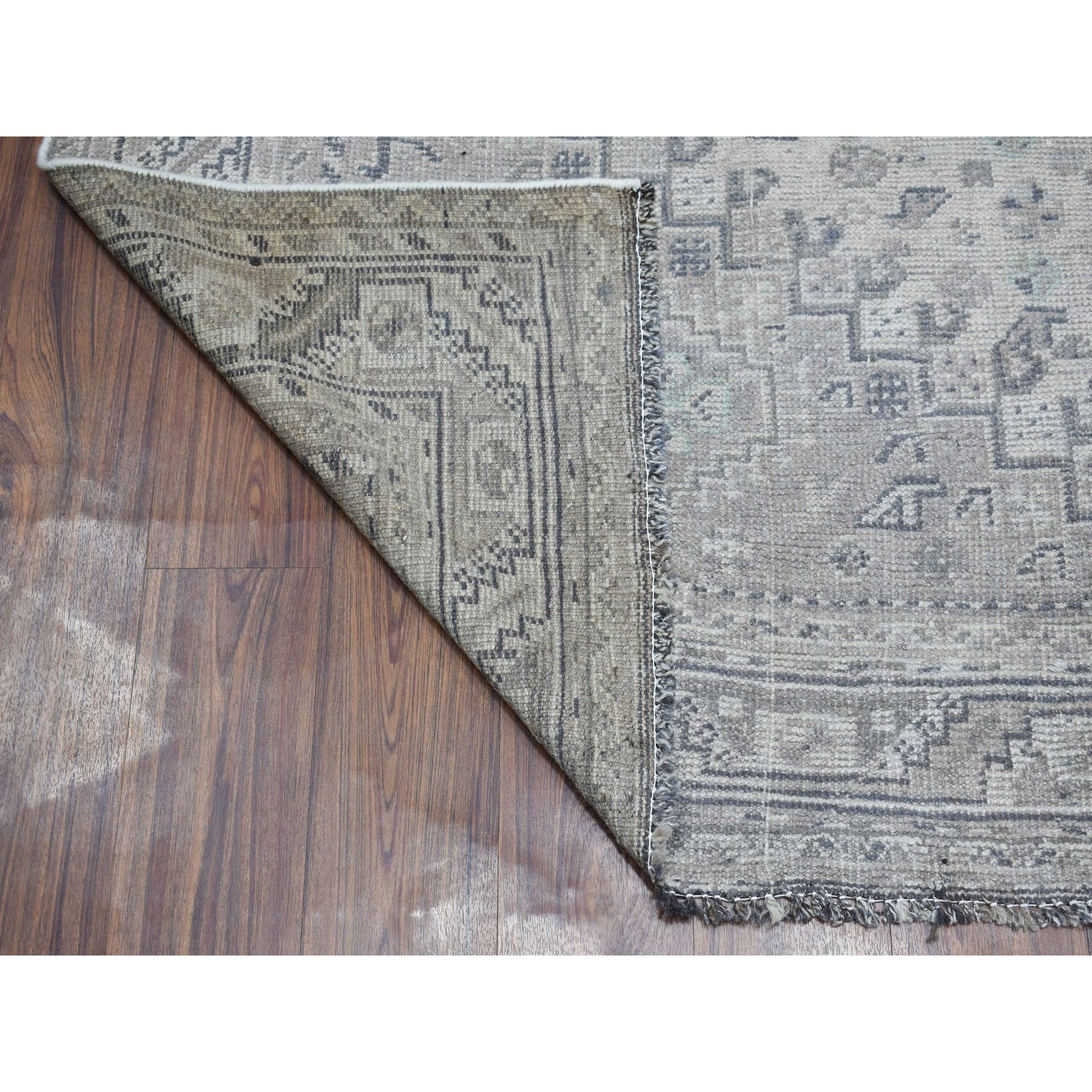 6-10 x10-1  Vintage And Worn Down Distressed Colors Persian Qashqai Hand Knotted Bohemian Rug