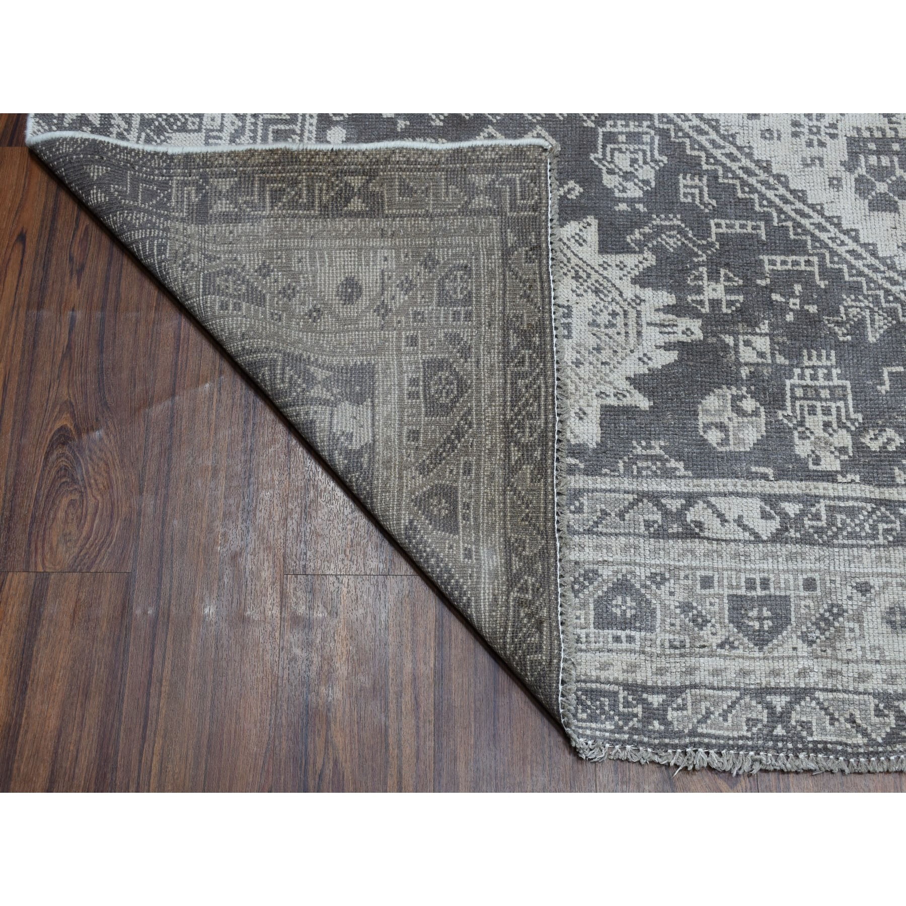 7-2 x9-6  Vintage And Worn Down Distressed Colors Persian Shiraz Hand Knotted Bohemian Rug