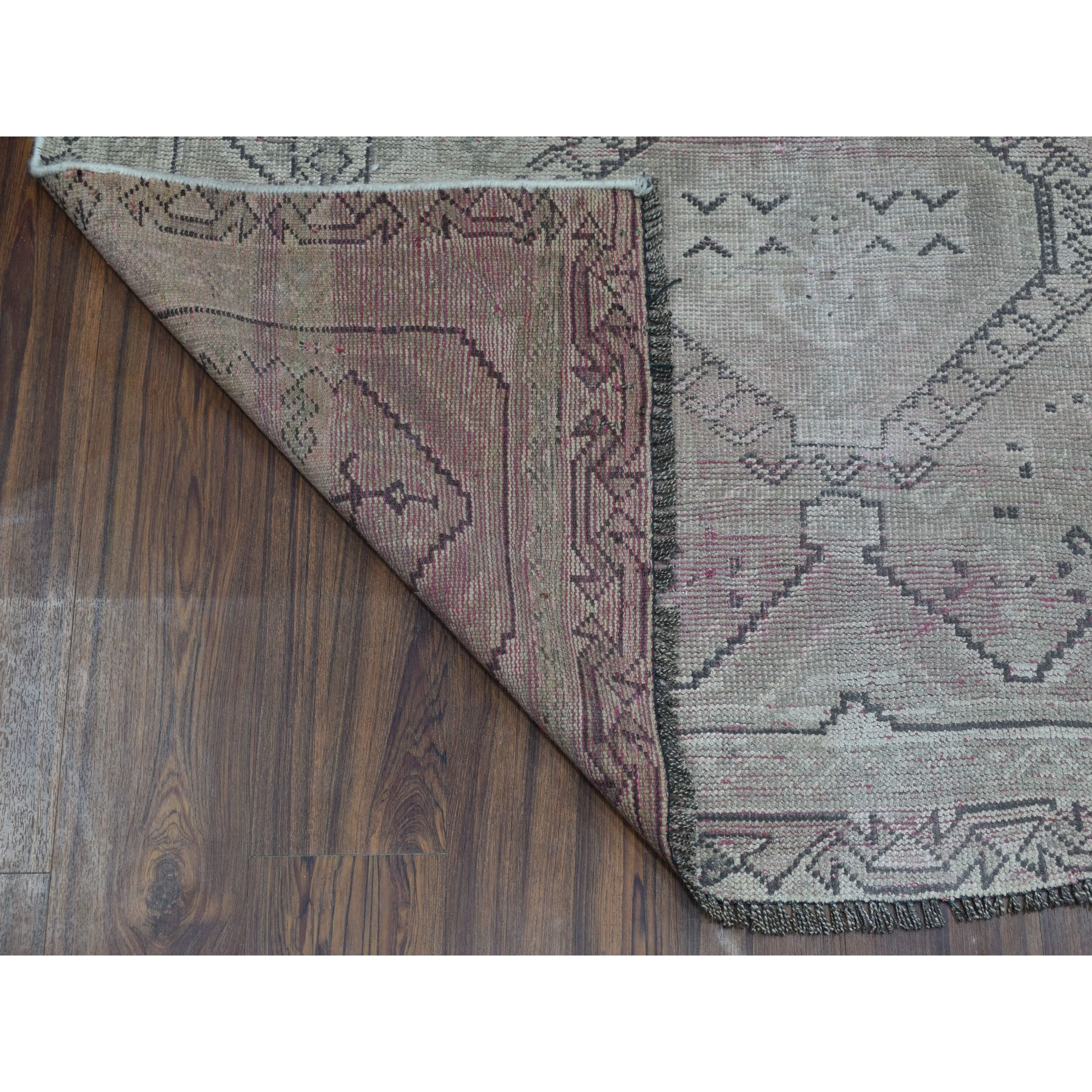 4-7 x8- Vintage And Worn Down Distressed Colors Persian Qashqai Hand Knotted Bohemian Rug