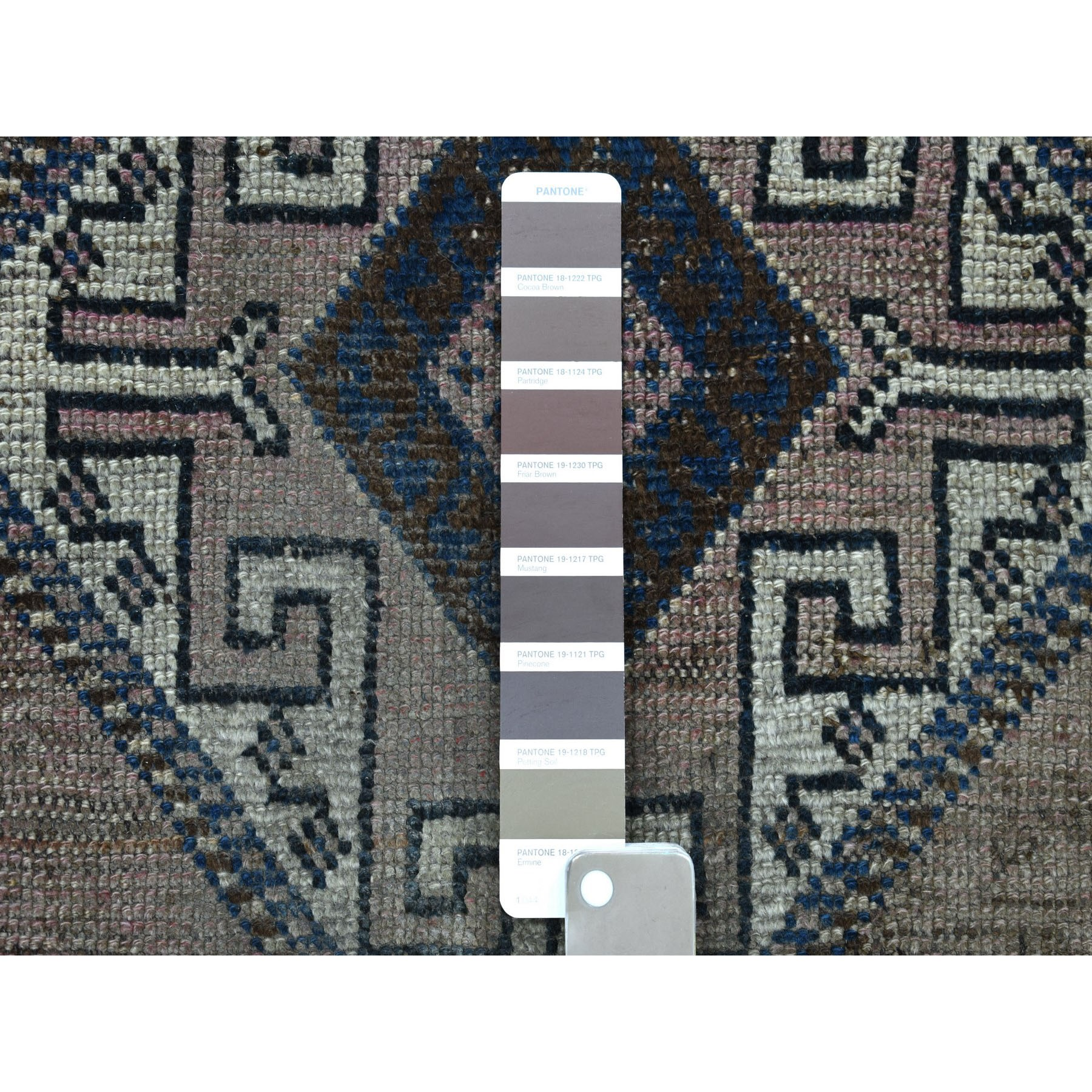 """5'1""""x7'5"""" Vintage And Worn Down Distressed Colors Persian Shiraz Hand Knotted Bohemian Rug"""