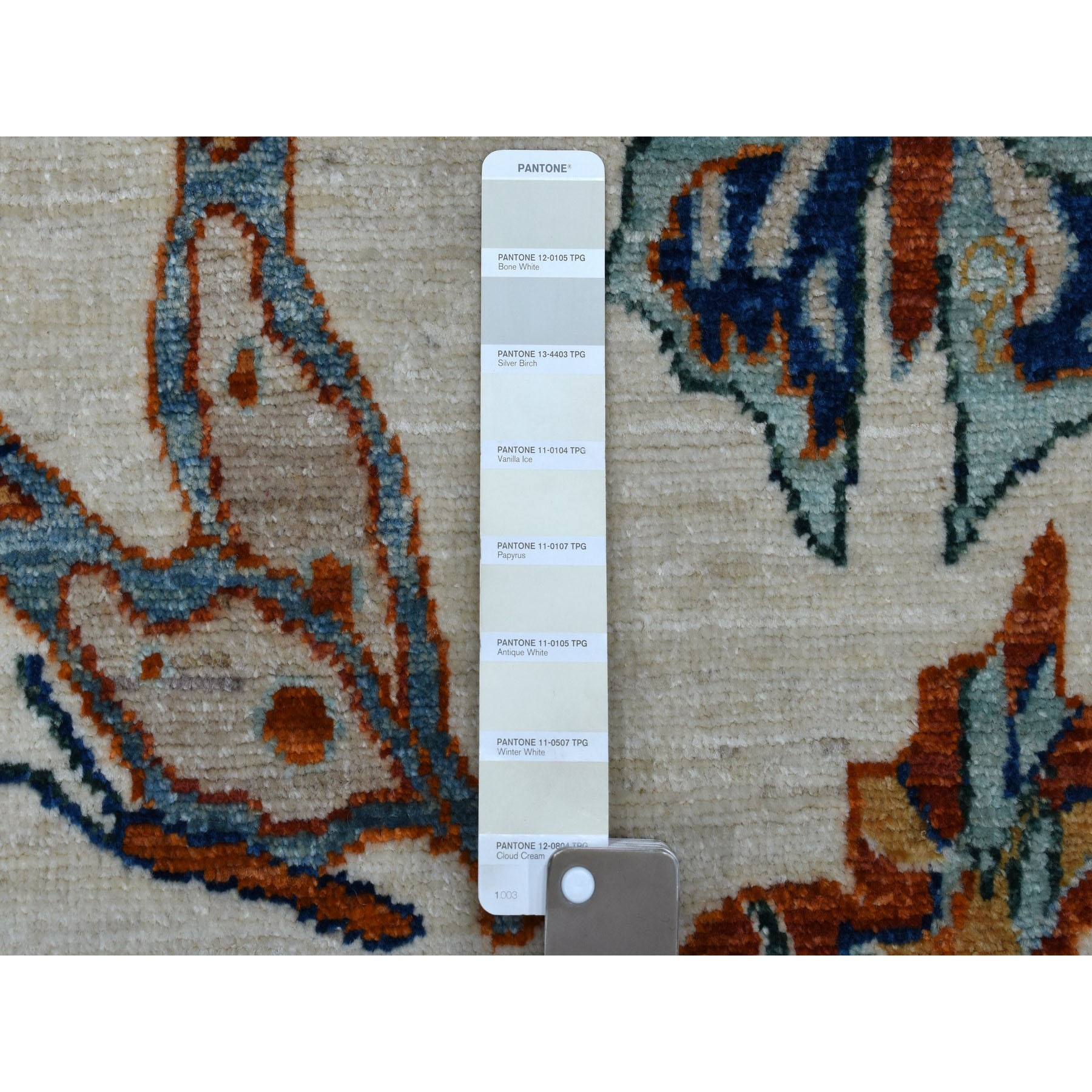 4'x6' The Colorful Butterflies Peshawar Pure wool Hand Knotted Oriental Rug