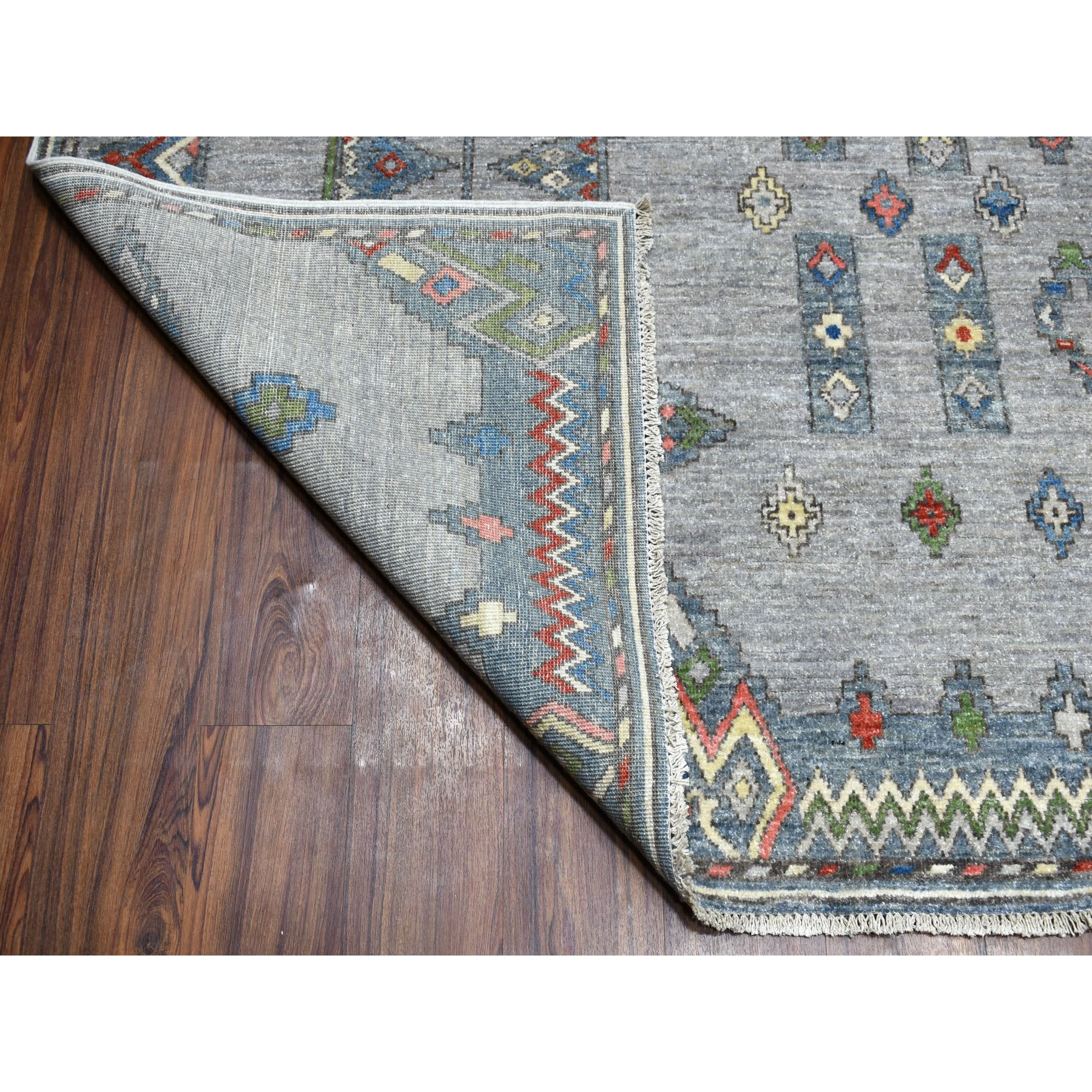 9-x11-10  Peshawar With Berber Motifs Inspired  With pop Of Color Pure Wool Oriental Rug