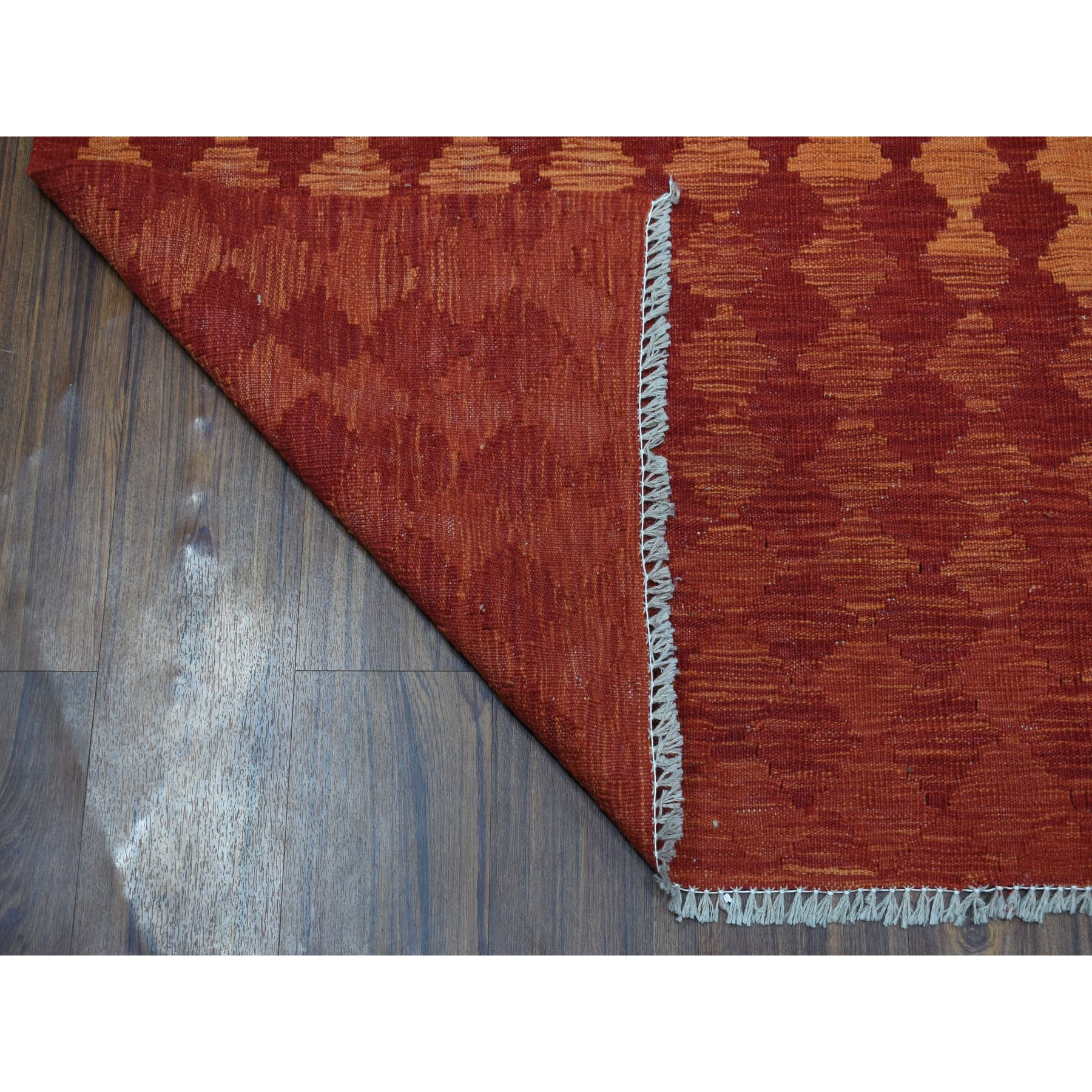 5-5 x8-2  Sunset Shades Reversible Kilim Pure Wool Hand Woven Oriental Rug