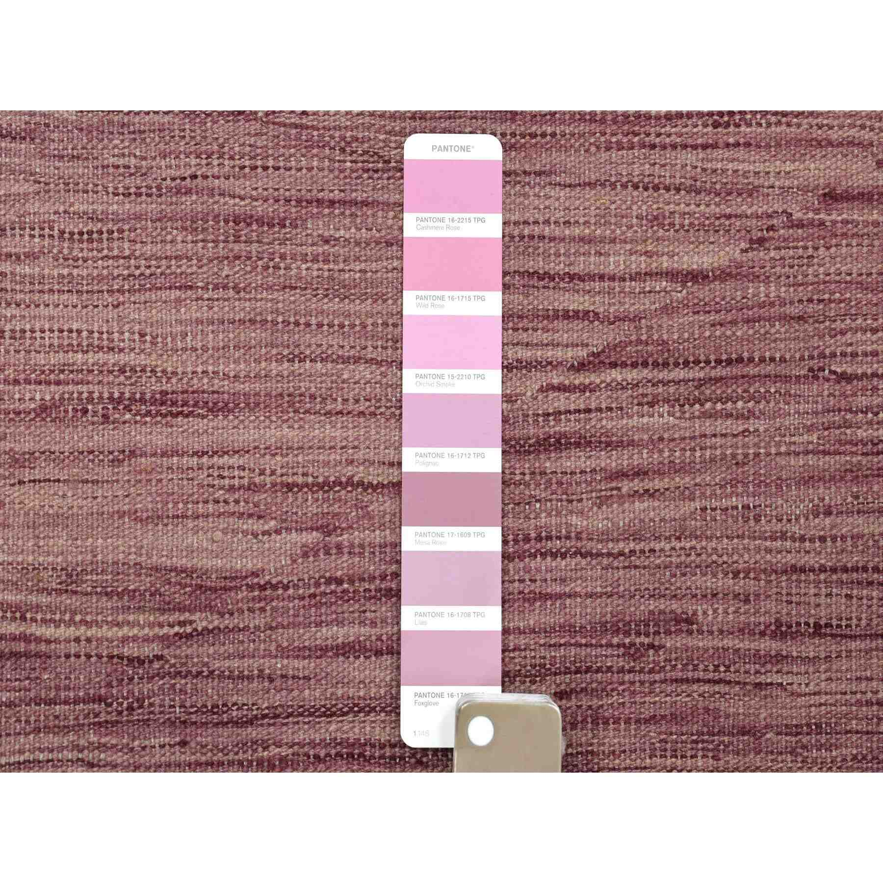 "2'8""x10' Lavender shades Reversible Kilim Pure Wool Hand Woven Runner Oriental Rug"