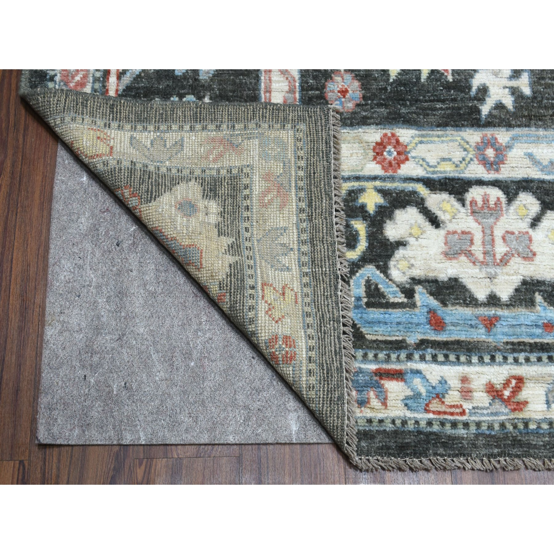 """8'9""""x12' Charcoal Black Angora Oushak With Soft Velvety Wool Hand Knotted Oriental Rug"""