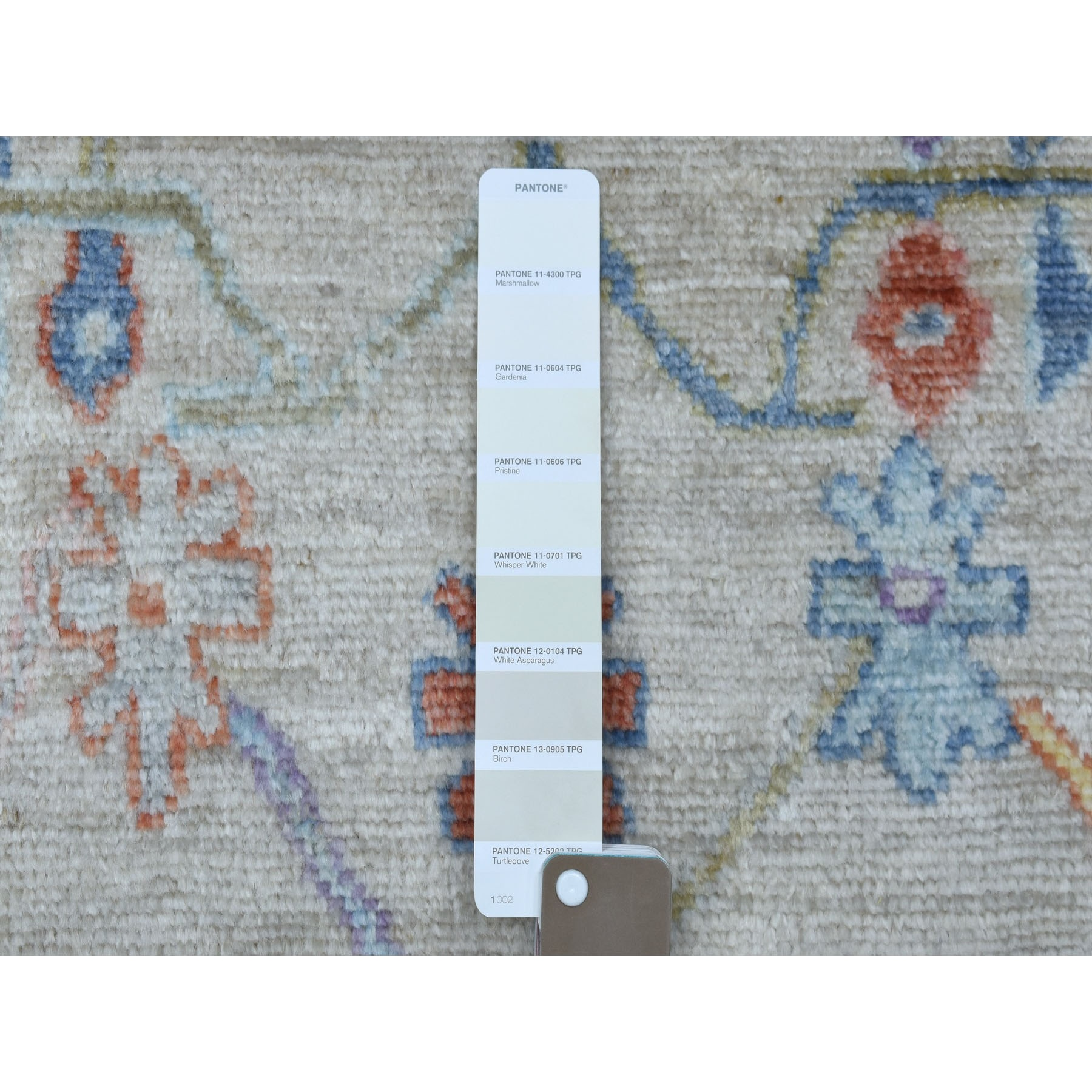 3'x19' Ivory Angora Oushak with Soft Velvety Wool Hand Knotted XL Runner Oriental Rug