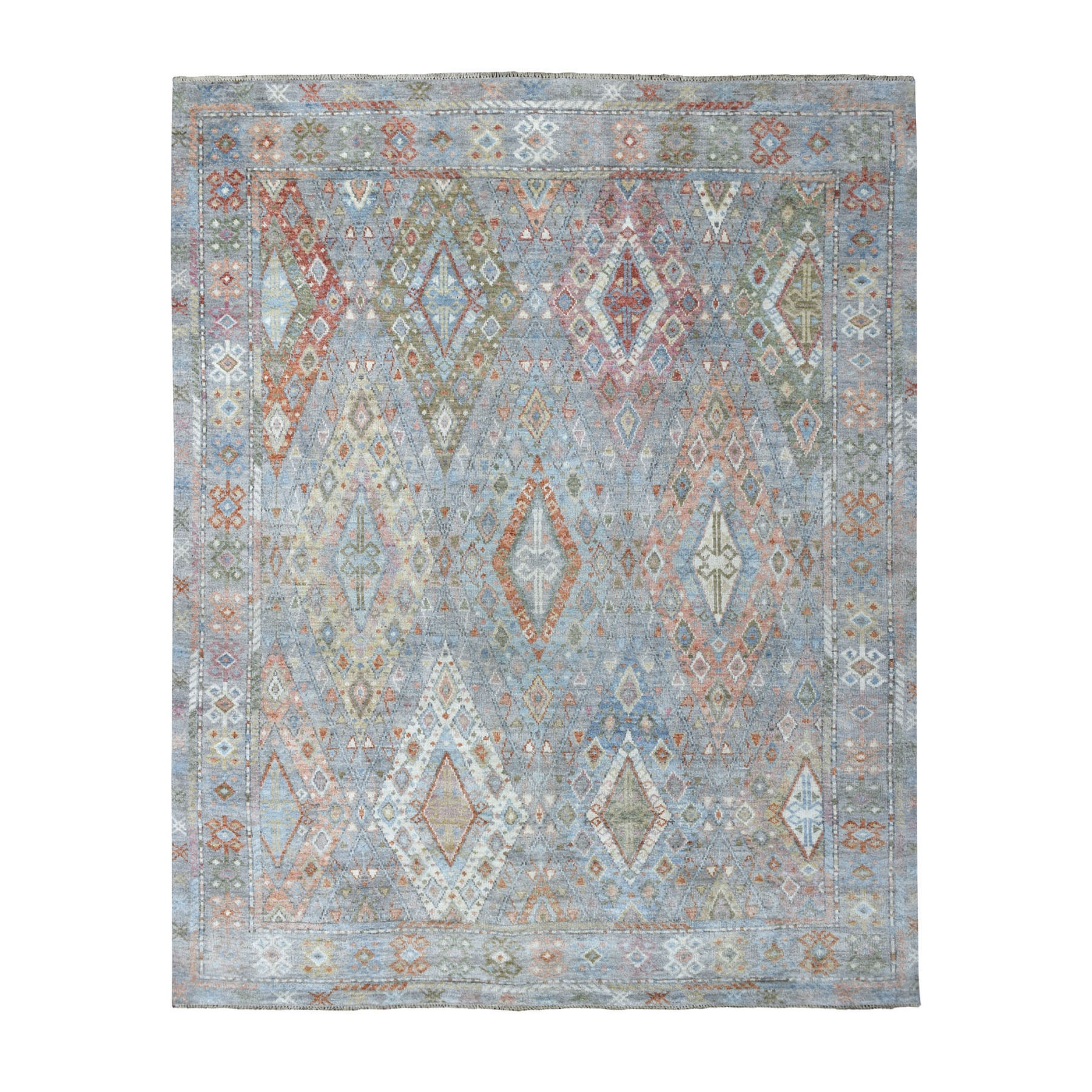 8'X10' Anatolian Collection Geometric Design Turkish Knot Oushak Soft Wool Oriental Rug moaede79