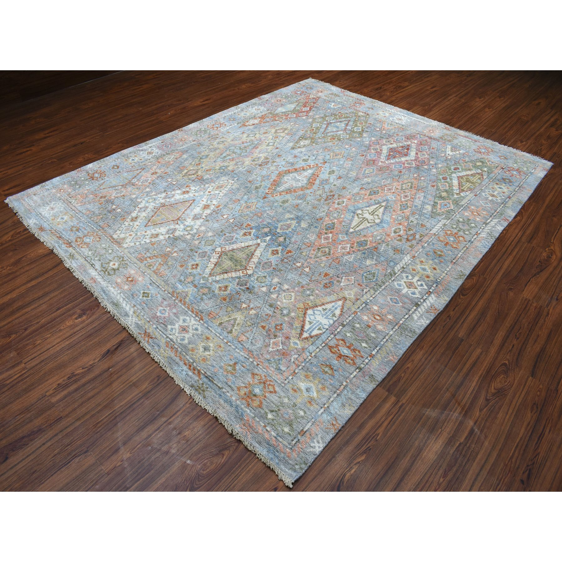 8'x10' Anatolian Collection Geometric Design Turkish Knot Oushak Soft Wool Oriental Rug