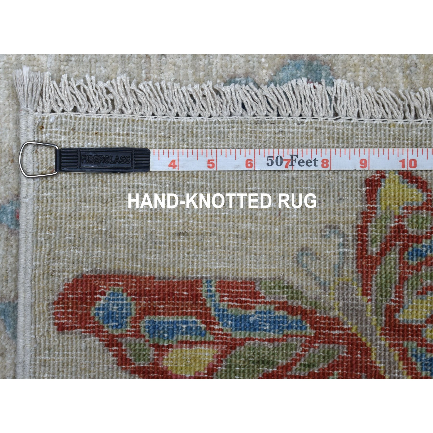 4'x6' Colorful Butterflies Design With Peshawar Organic Wool Hand Knotted Oriental Rug