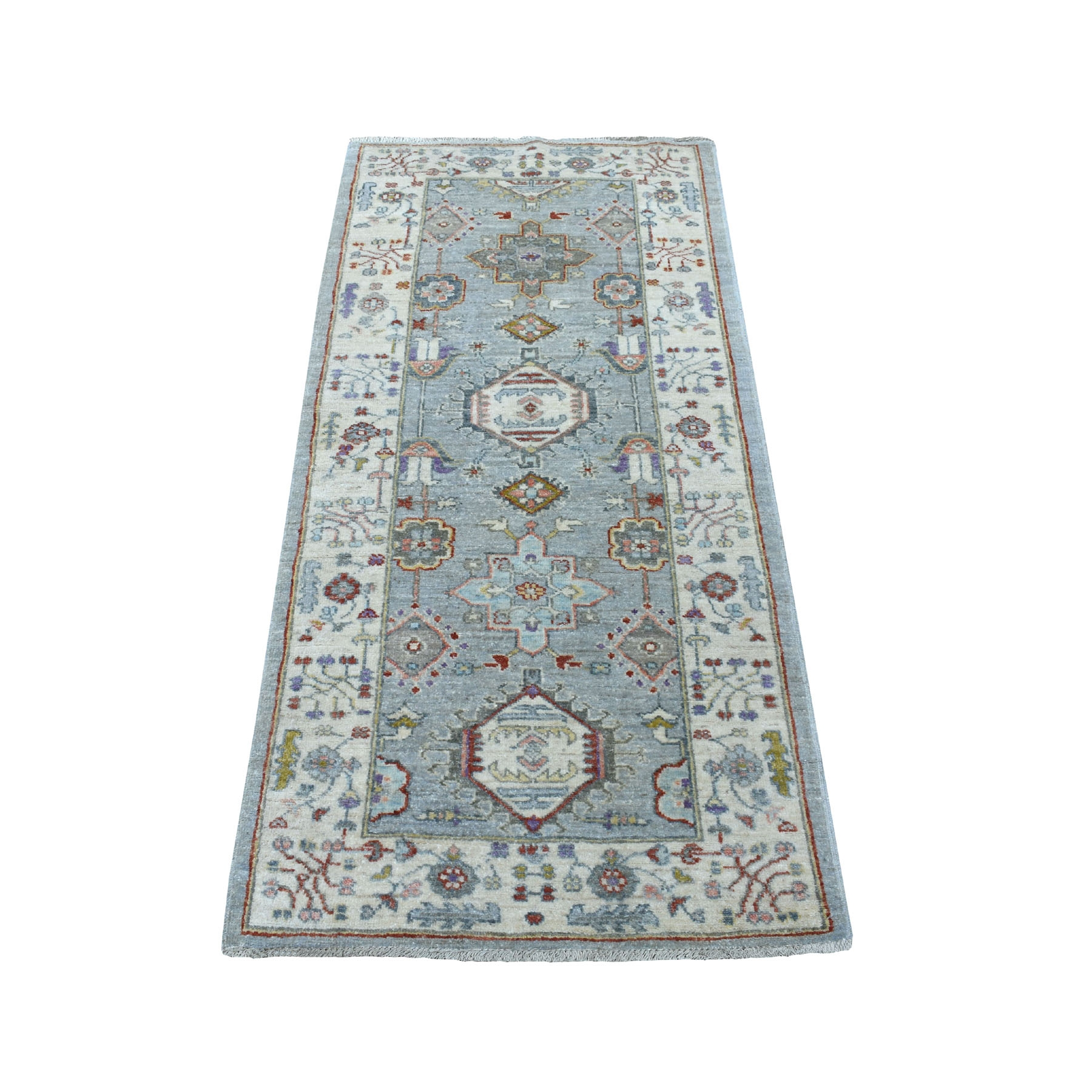 "2'7""x5'8"" Colorful Peshawar With Karajeh Design Afghani Wool Runner Oriental Rug"