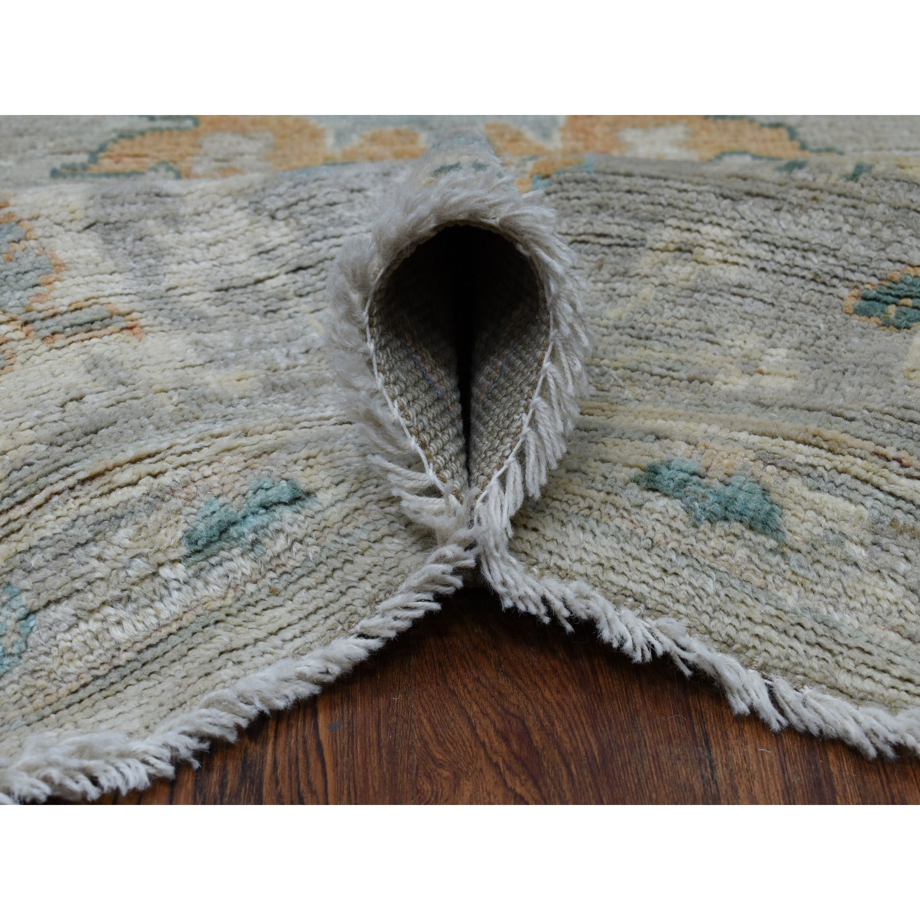 "8'1""x10' Gray Angora Oushak With Soft Wool Hand Knotted Oriental Rug"