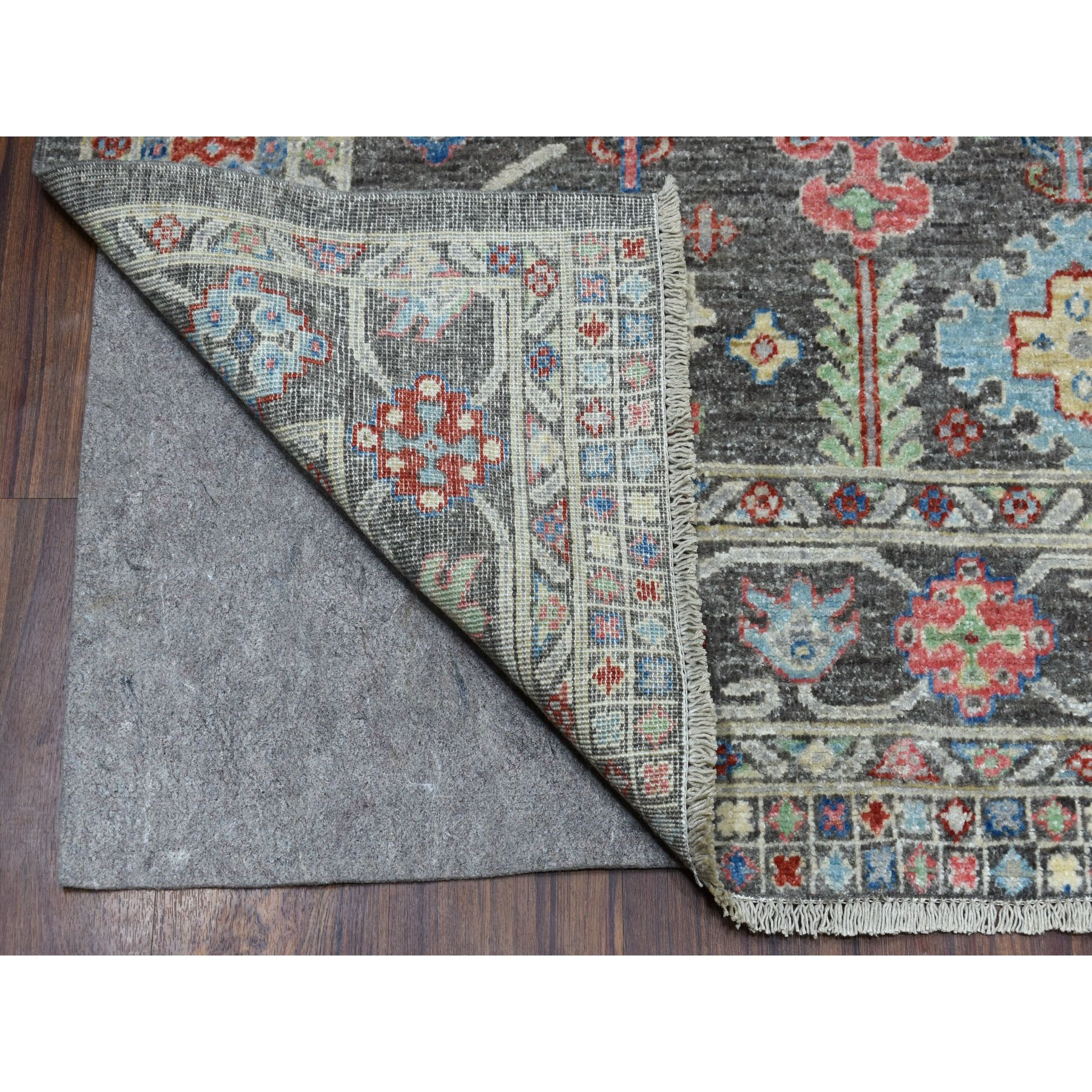 6-1 x8-8  Peshawar With Pop Of Color Ethnic Design Afghan Wool Hand Knotted Oriental Rug