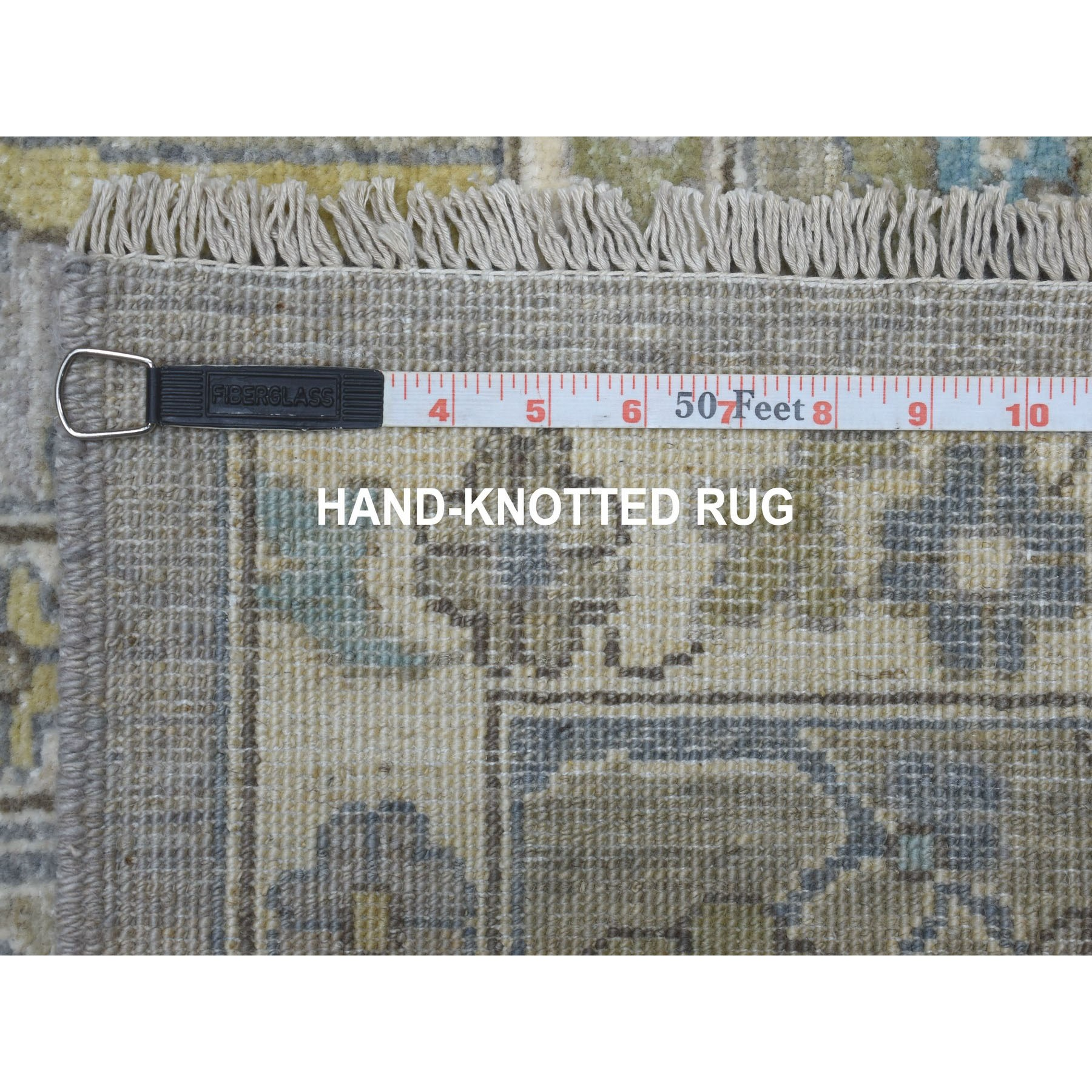 8-x9-8  Gray Afghan Peshawar Organic Wool Hand Knotted Oriental Rug
