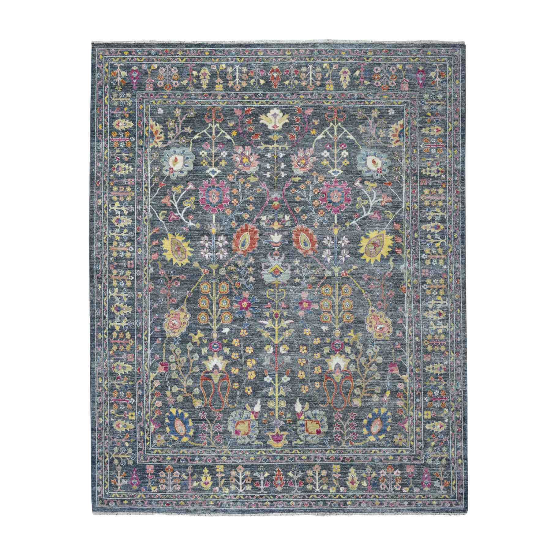 """8'X9'9"""" Peshawar With Colorful Tabriz Design Afghan Wool Hand Knotted Oriental Rug moaed987"""