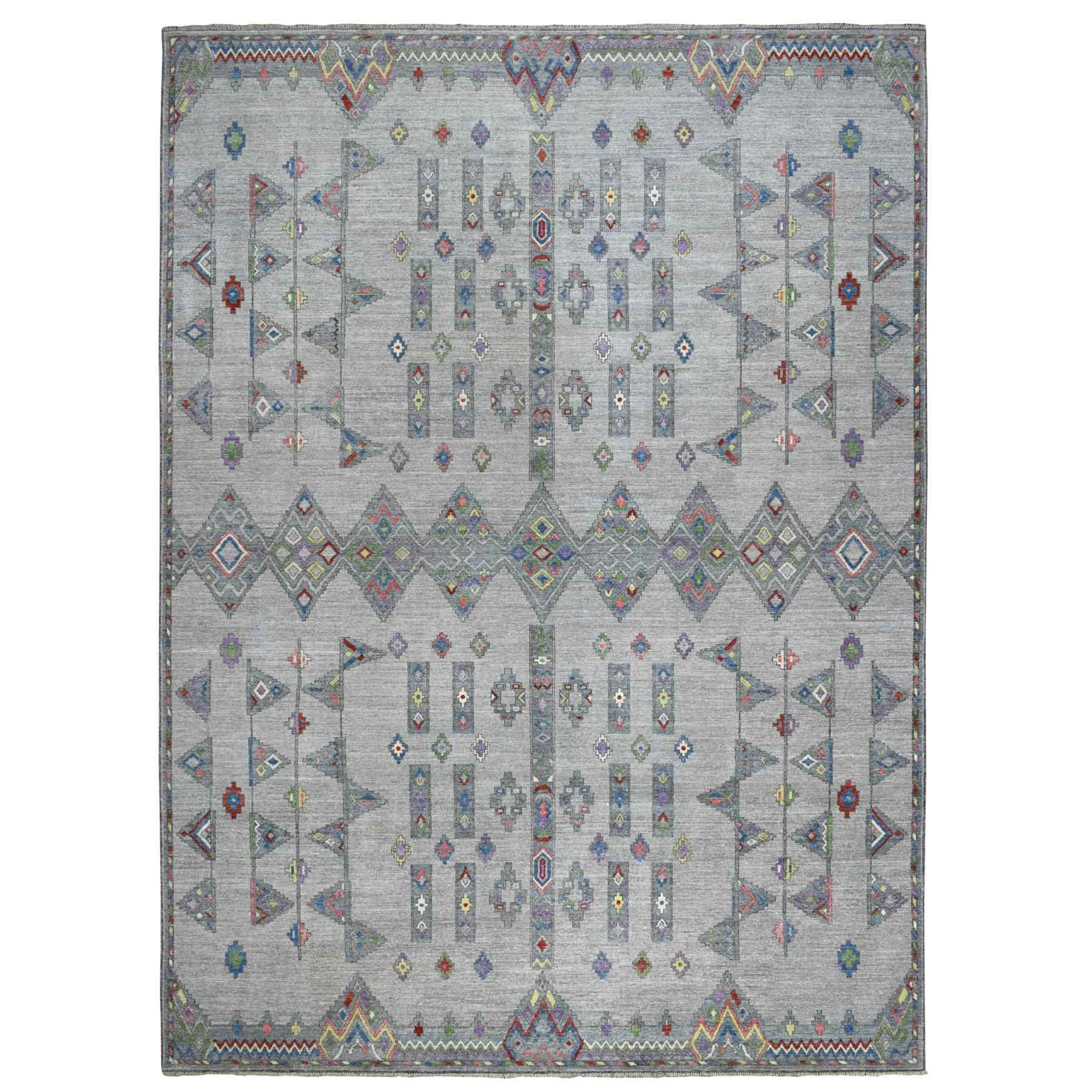 "10'X13'9"" Peshawar With Berber Motifs Inspired Organic Wool Oriental Rug moaee000"