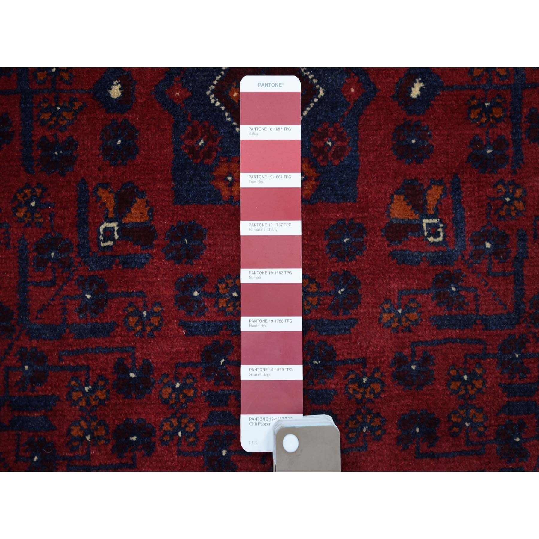 """2'7""""x31'6"""" Afghan Khamyab XL Runner Natural Dyes Velvety Wool Hand Knotted Oriental Rug"""