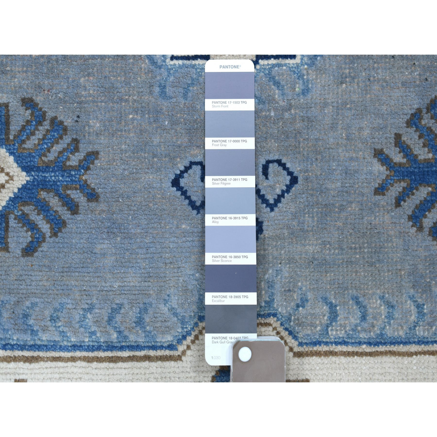 "9'10""x13'7"" Gray Vintage Look Kazak Hand Knotted Natural Wool Oriental Rug"