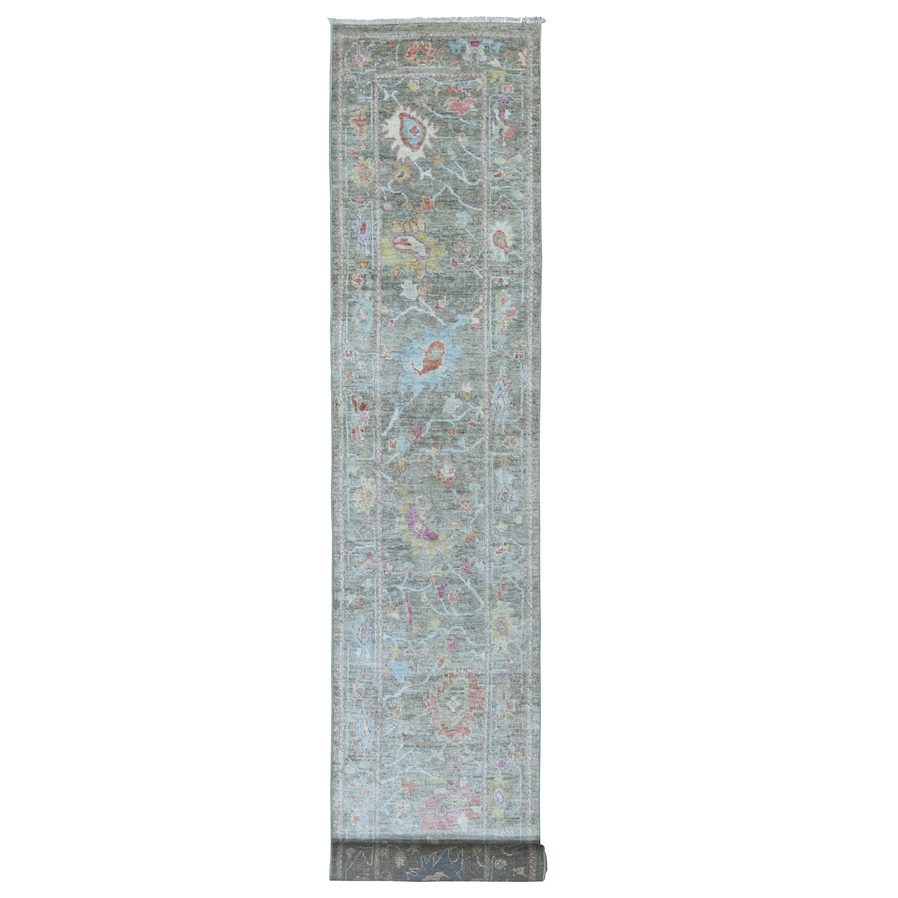 Agra And Turkish Collection Hand Knotted Grey Rug No: 1112600