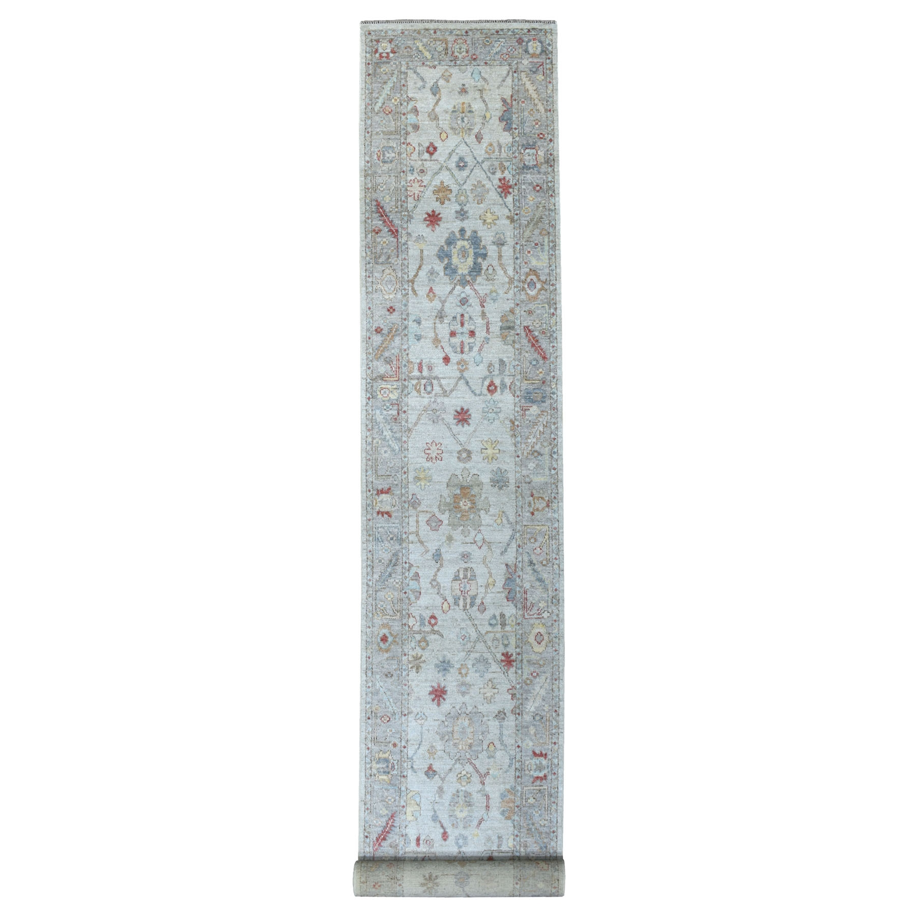 Agra And Turkish Collection Hand Knotted Grey Rug No: 1113146
