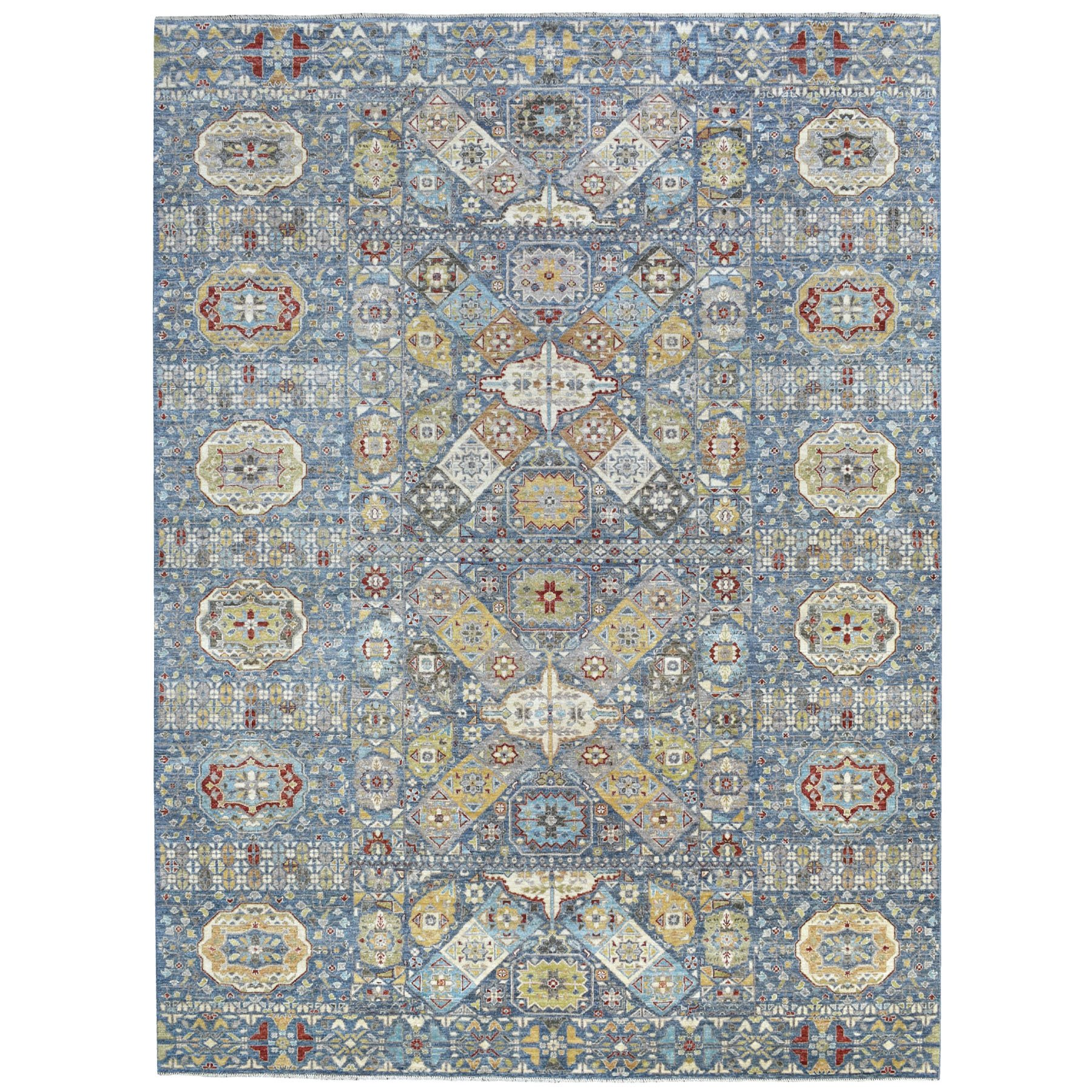 Agra And Turkish Collection Hand Knotted Blue Rug No: 1113458