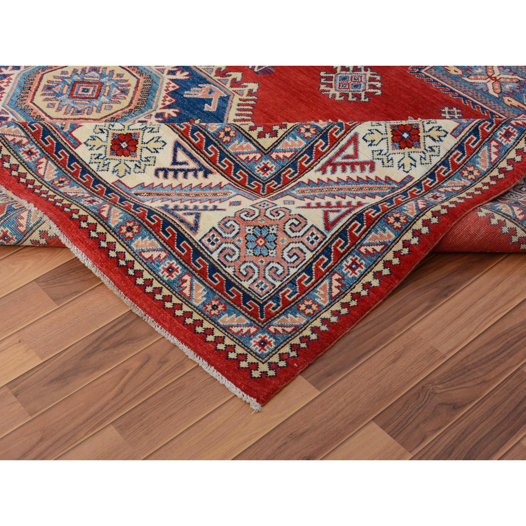 10-x13-10  Red Special kazak All Over Design Pure wool Hand Knotted Oriental Rug