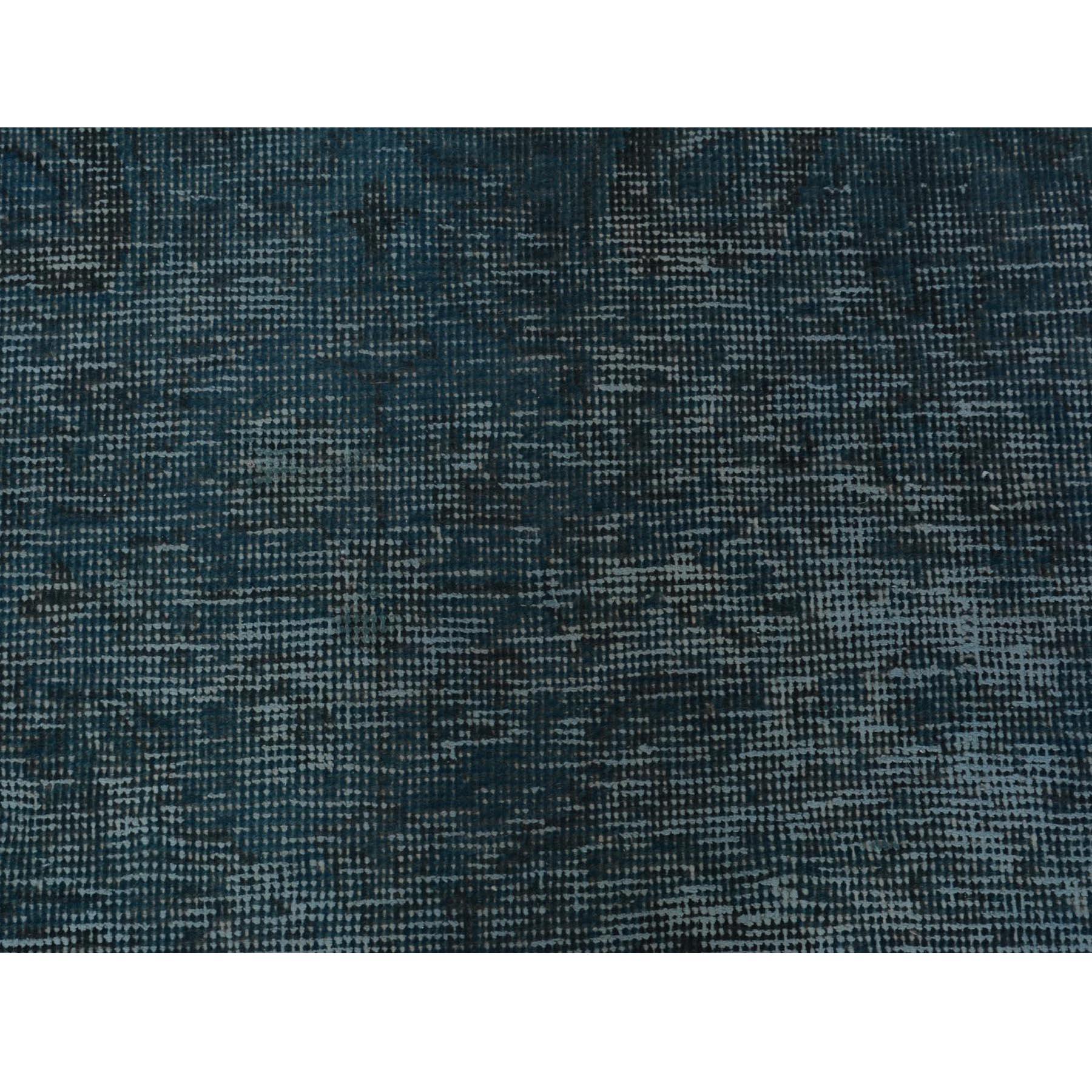 "5'9""x9'6"" Teal Wash Worn Down Vintage Persian Tabriz Hand Knotted Oriental Rug"