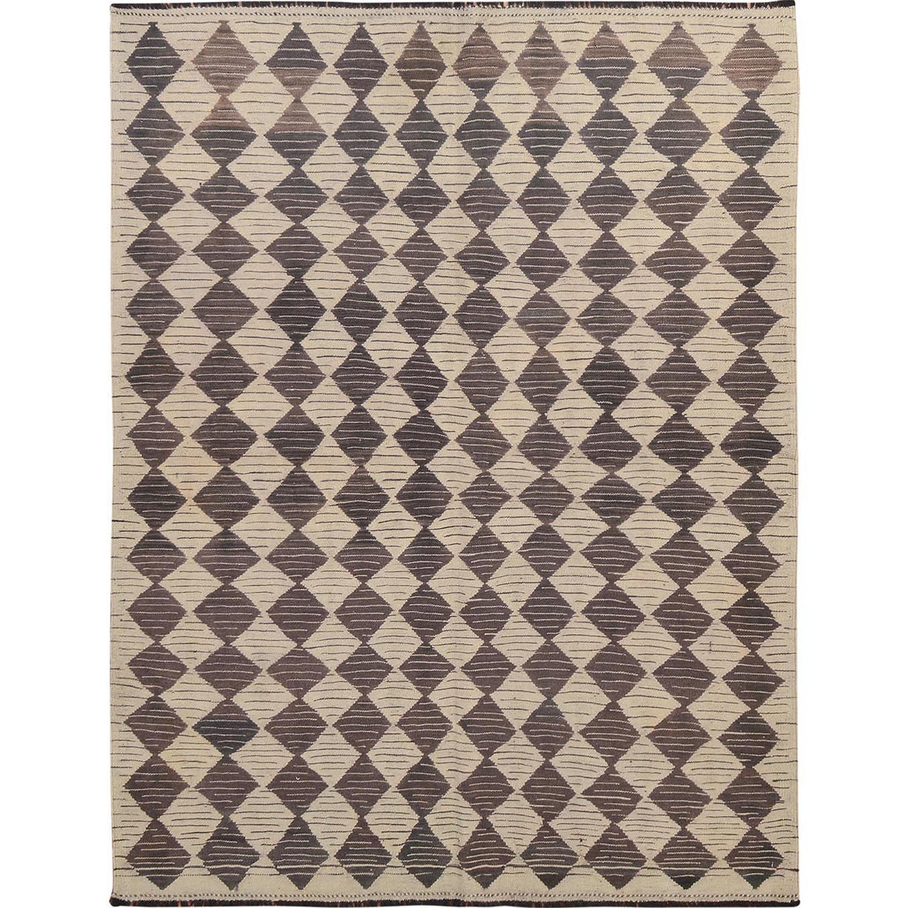 """5'x6'5"""" Afghan Reversible Kilim Vegetable Dyes Pure Wool Hand Woven Oriental Rug"""