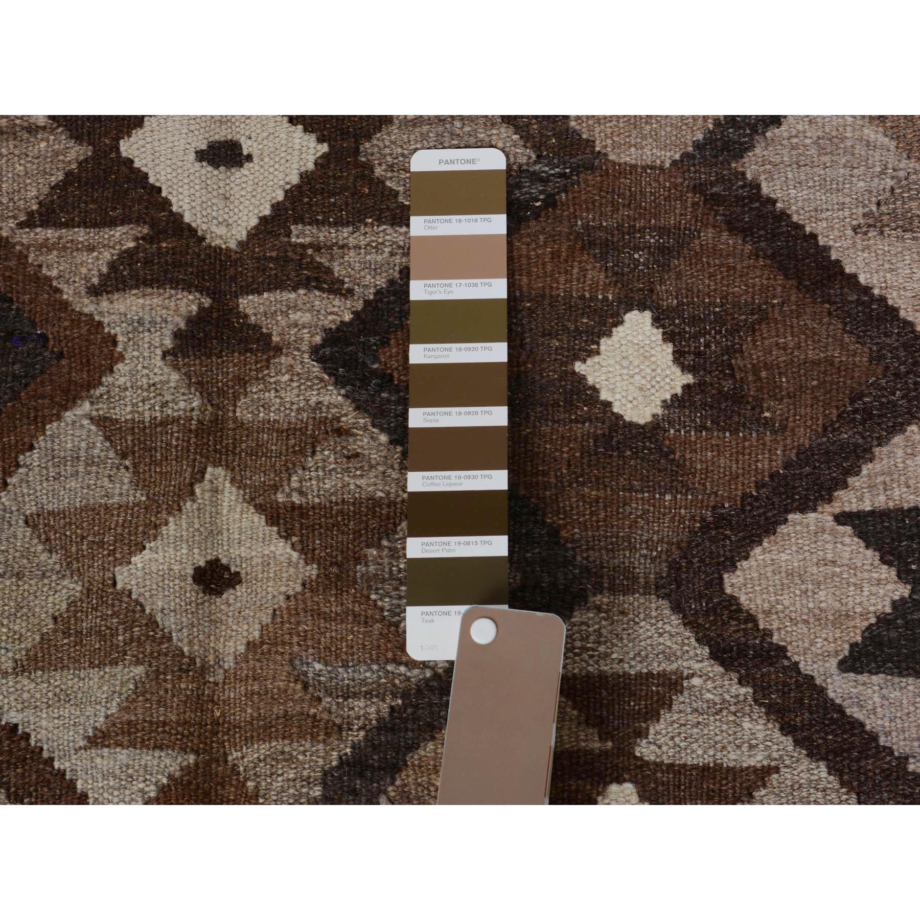 """5'x6'7"""" Afghan Reversible Kilim Vegetable Dyes 100% Wool Hand Woven Oriental Rug"""