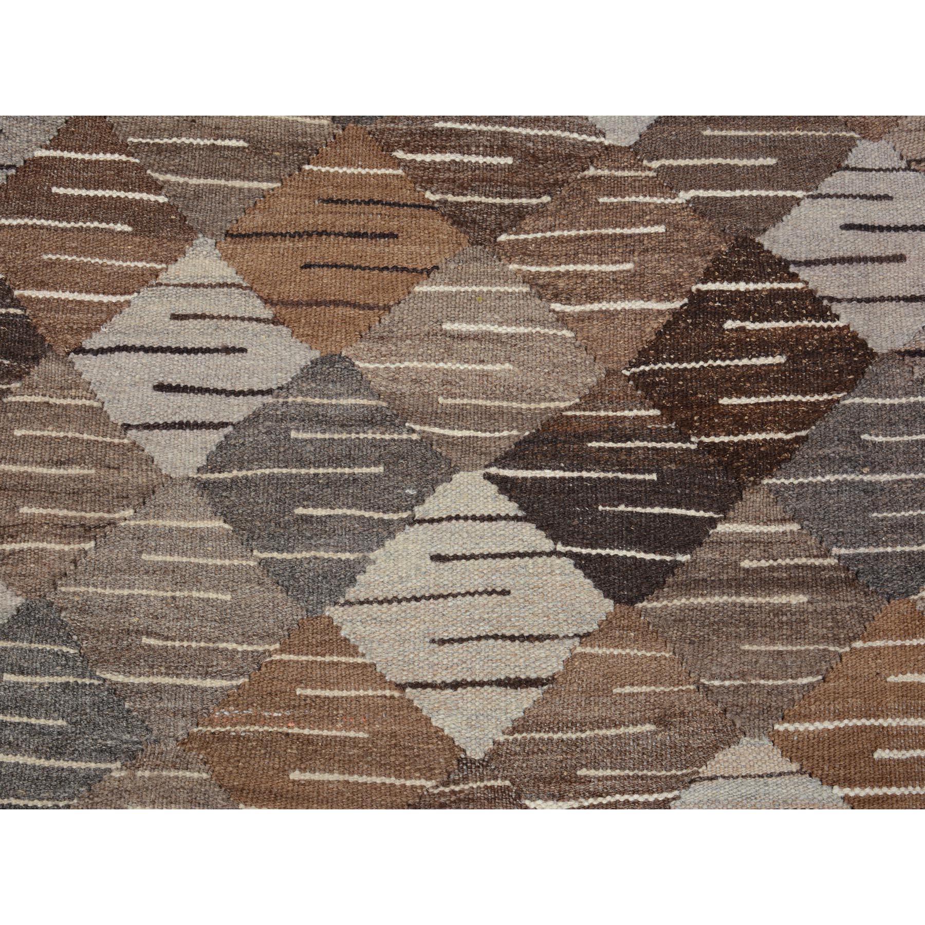 """5'3""""x7'8"""" Afghan Reversible Kilim Vegetable Dyes Pure Wool Hand Woven Oriental Rug"""