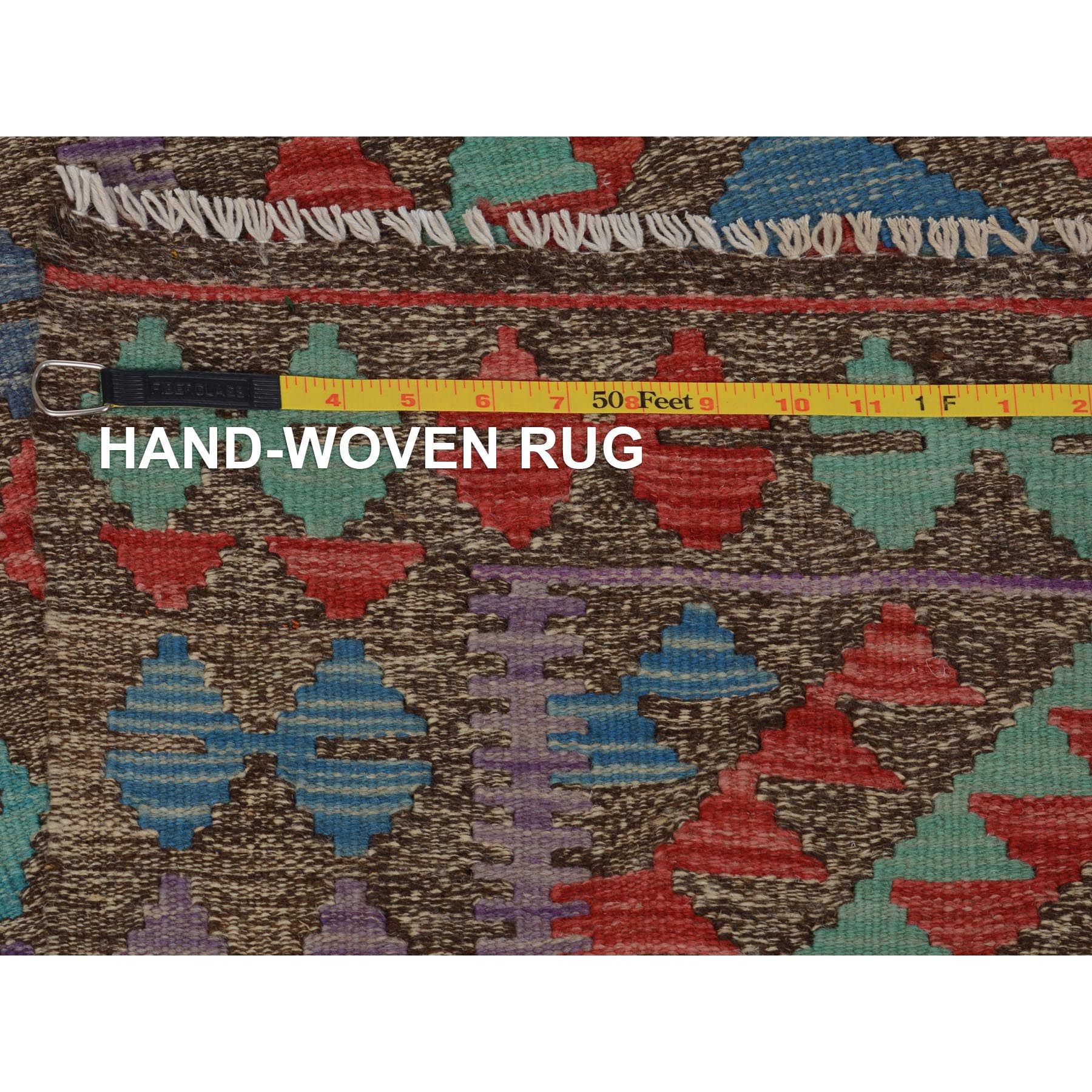 "2'7""x3'10""  Colorful Reversible Vegetable Dyes Afghan Kilim Pure Wool Hand Woven Oriental Rug"