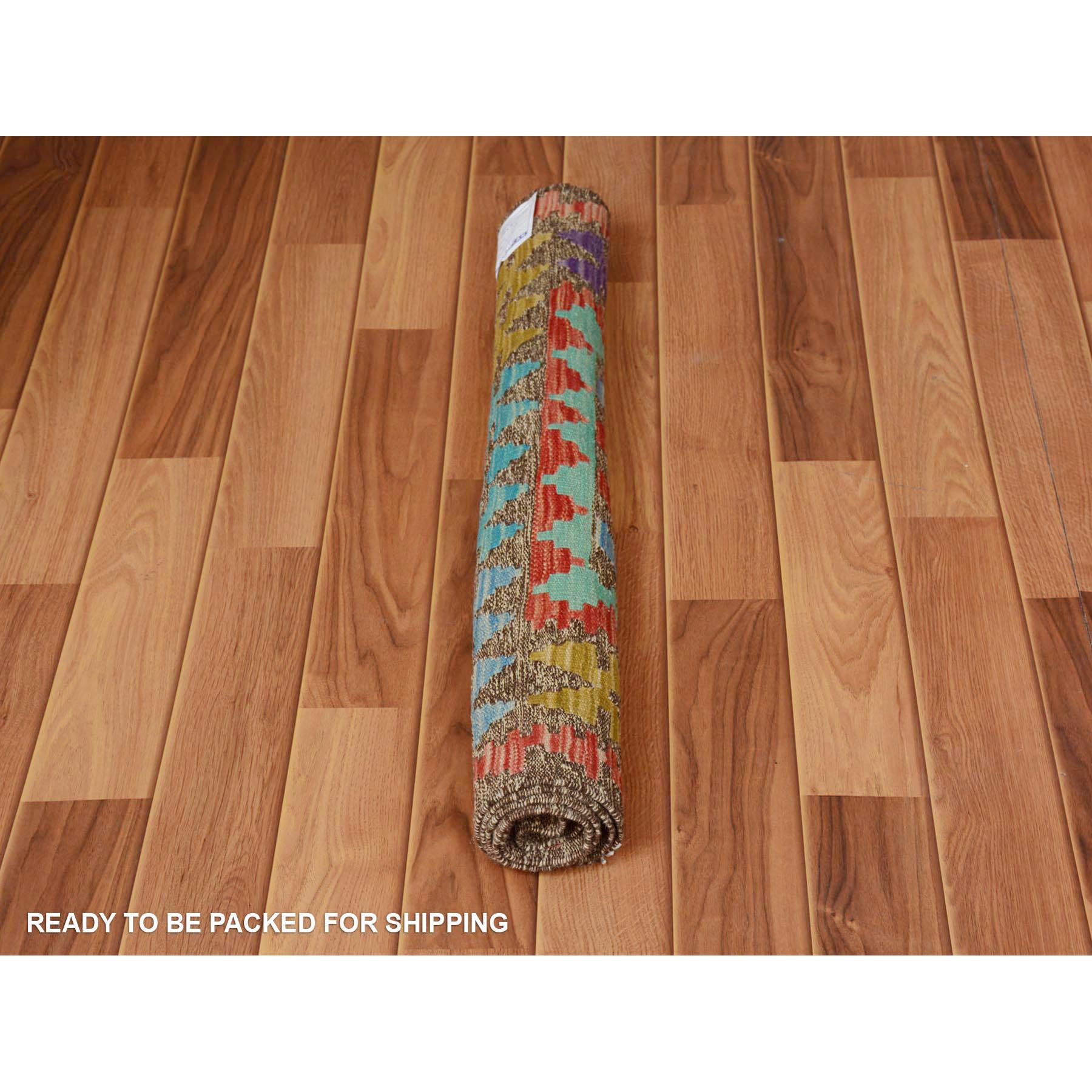 2-9 x4- Colorful Reversible Geometric Design Afghan Kilim Flat Weave Pure Wool Hand Woven Oriental Rug