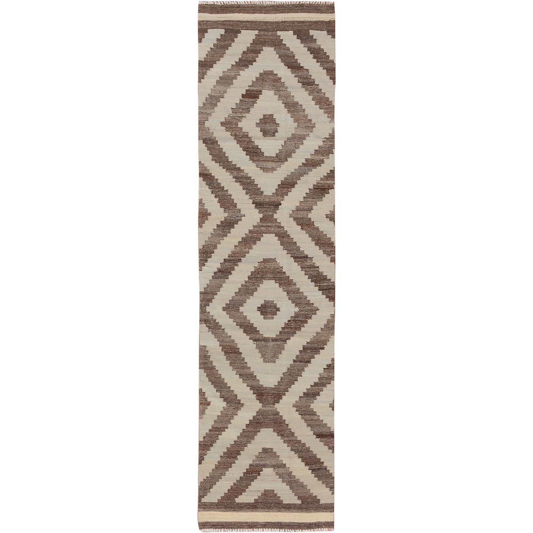 """2'3""""x9'4""""  Reversible Afghan Kilim Flat weave Runner Hand Woven Oriental Rug"""