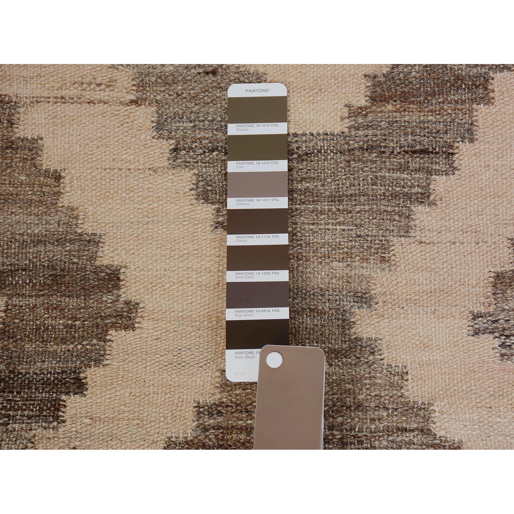 2-9 x9-8  Afghan Reversible Kilim Vegetable Dyes Pure Wool Runner Hand Woven Oriental Rug