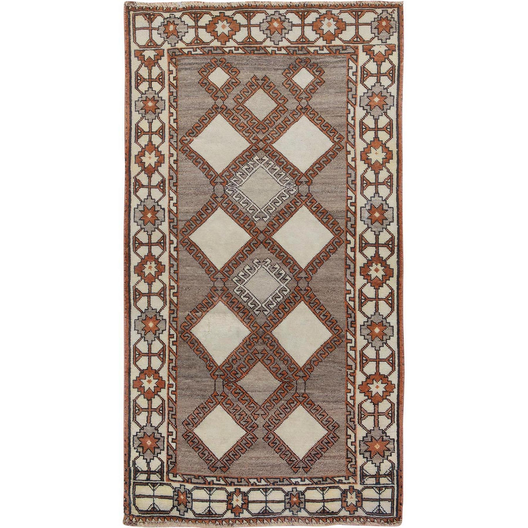 "3'6""X6'5"" Undyed Natural Wool Persian Gabbeh Pure Wool Hand Knotted Oriental Rug moae76bb"