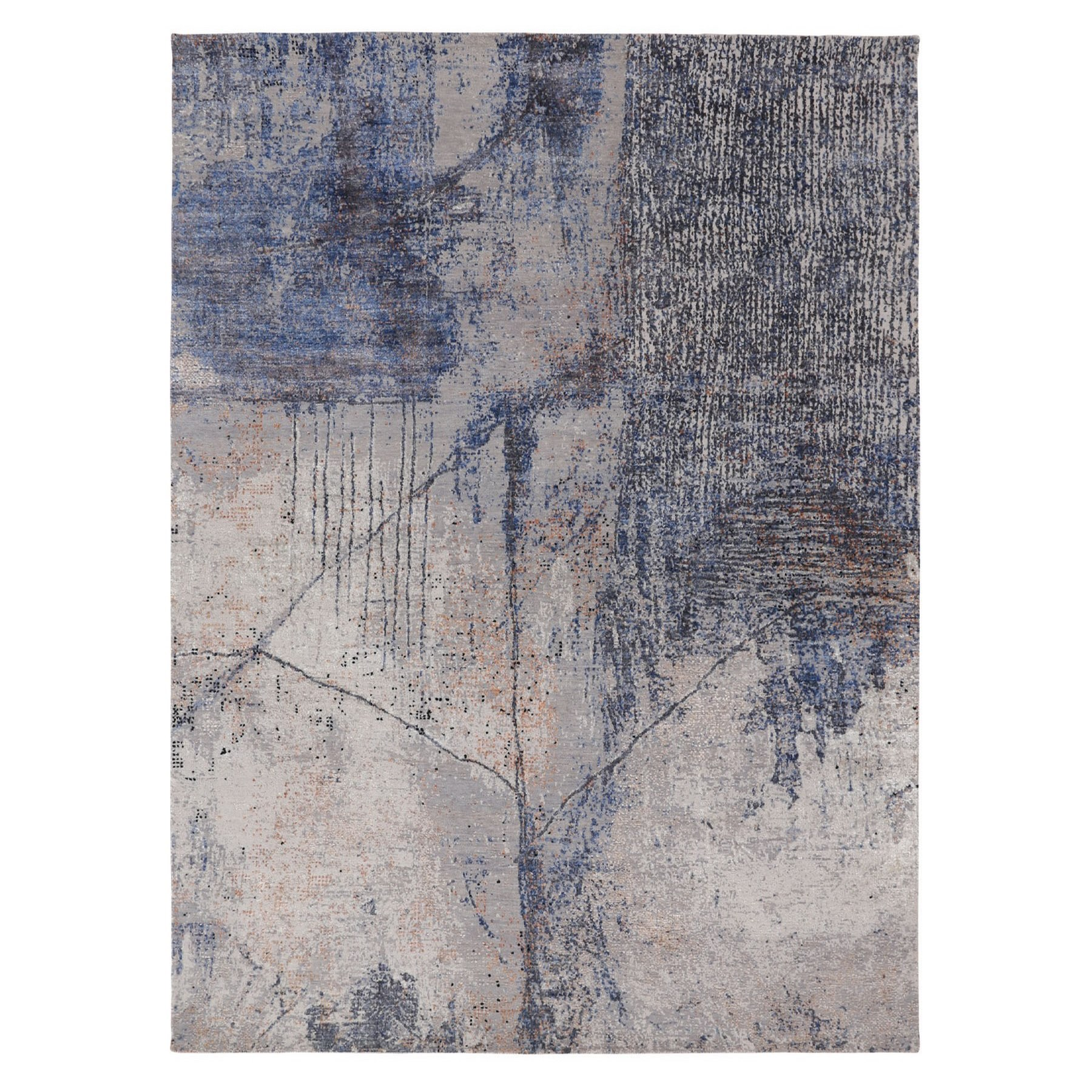 """7'10""""X10'2"""" Soft Colors Shades  Abstract Design Wool And Silk Hand Knotted Oriental Rug moae80be"""