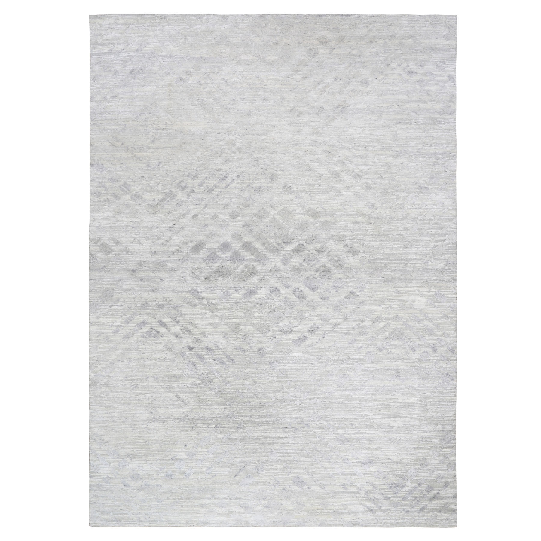 """12'X17'9"""" Oversized Ivory Hand Spun Undyed Natural Wool Modern Hand Knotted Oriental Rug moae8bbd"""