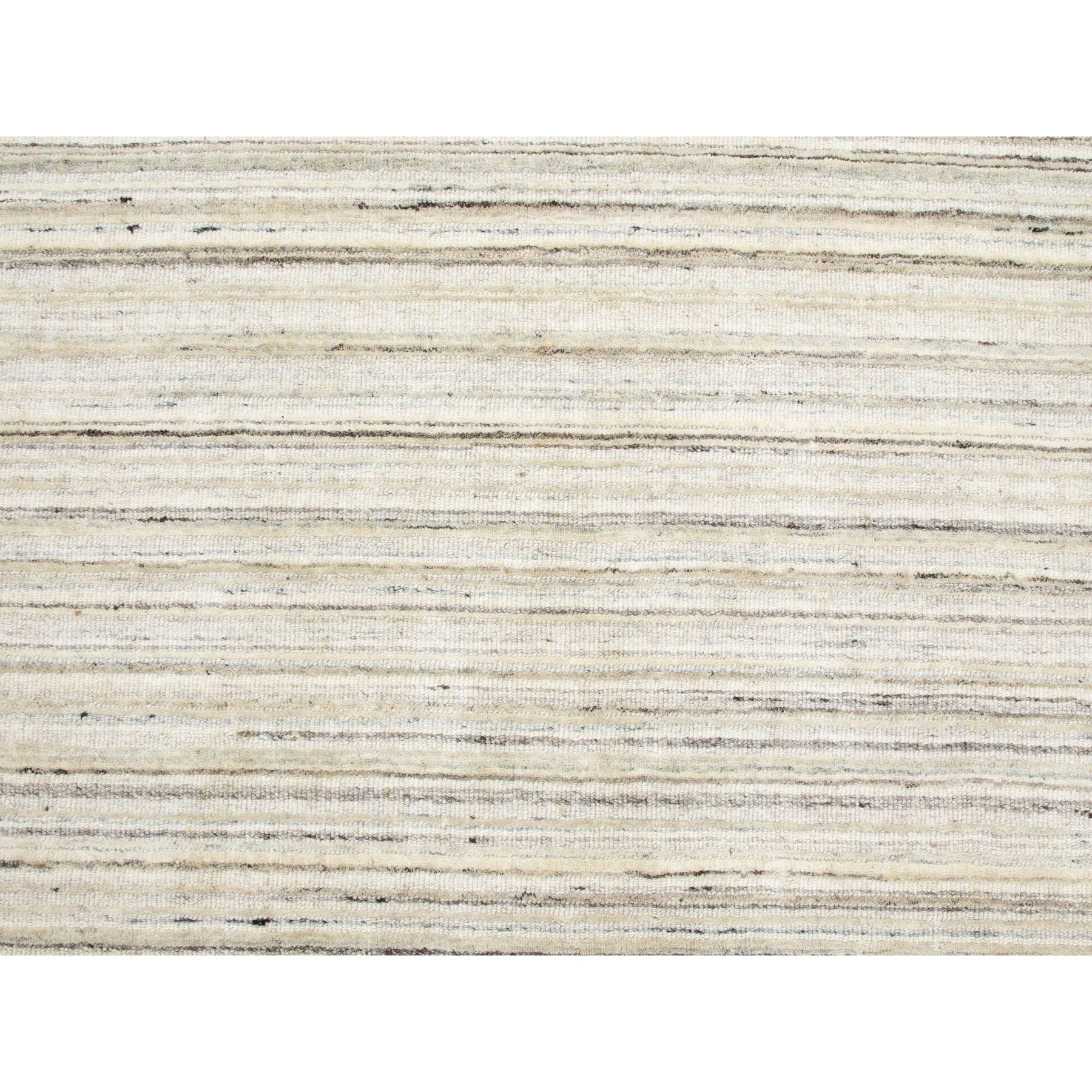 9'x12' Beige Hand Loomed Organic Wool Modern Oriental Rug