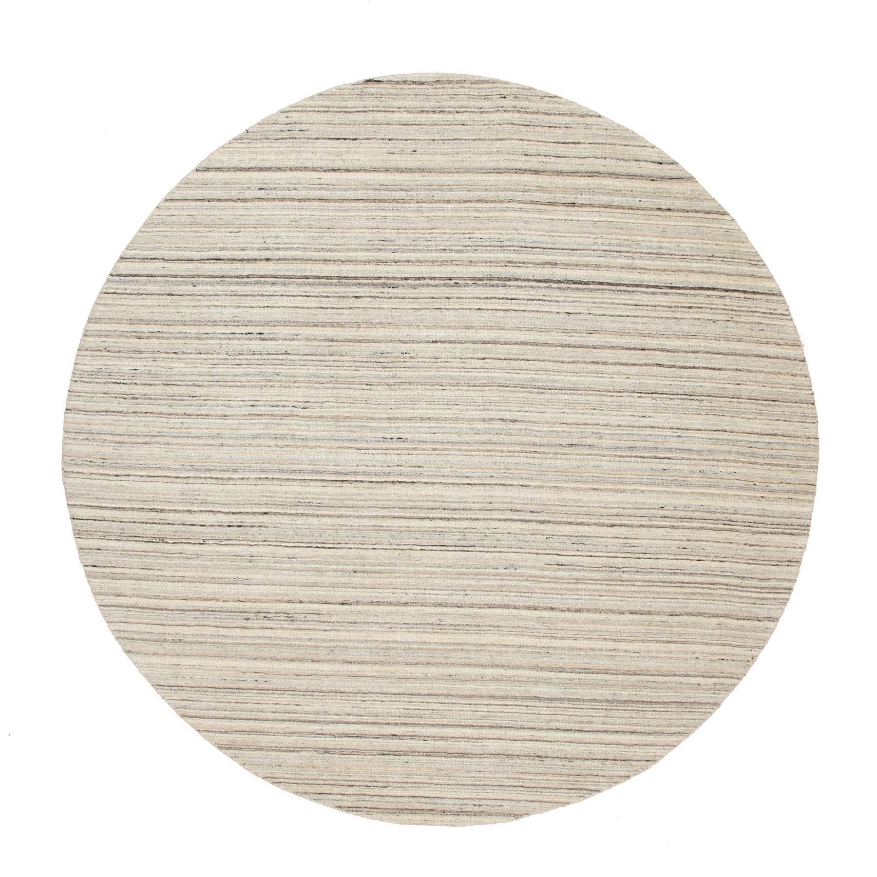 8'X8' Beige Hand Loomed Organic Wool Modern Oriental Rug moae8ce0