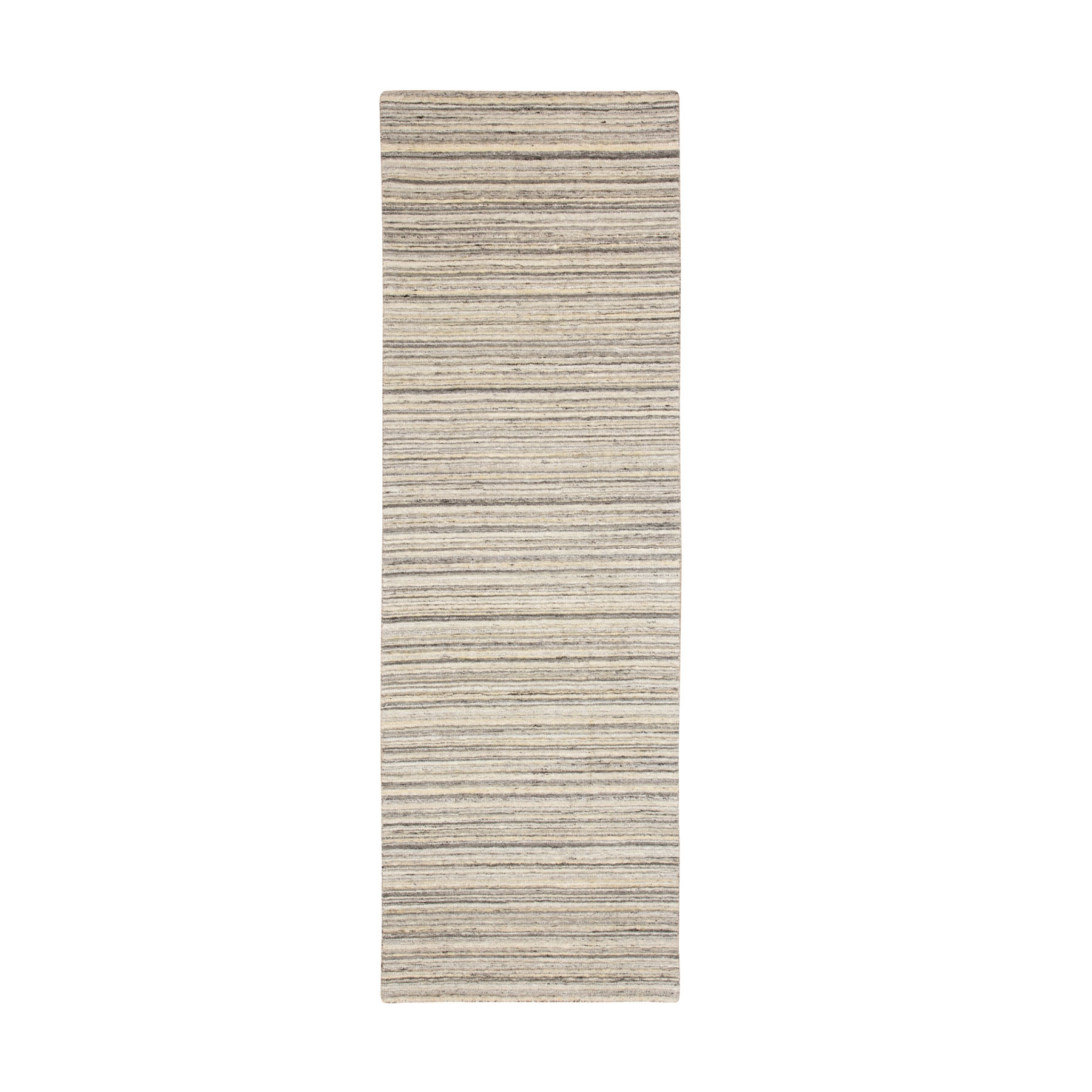 "2'5""X7'9"" Beige Hand Loomed Organic Wool Modern Runner Oriental Rug moae8c7b"