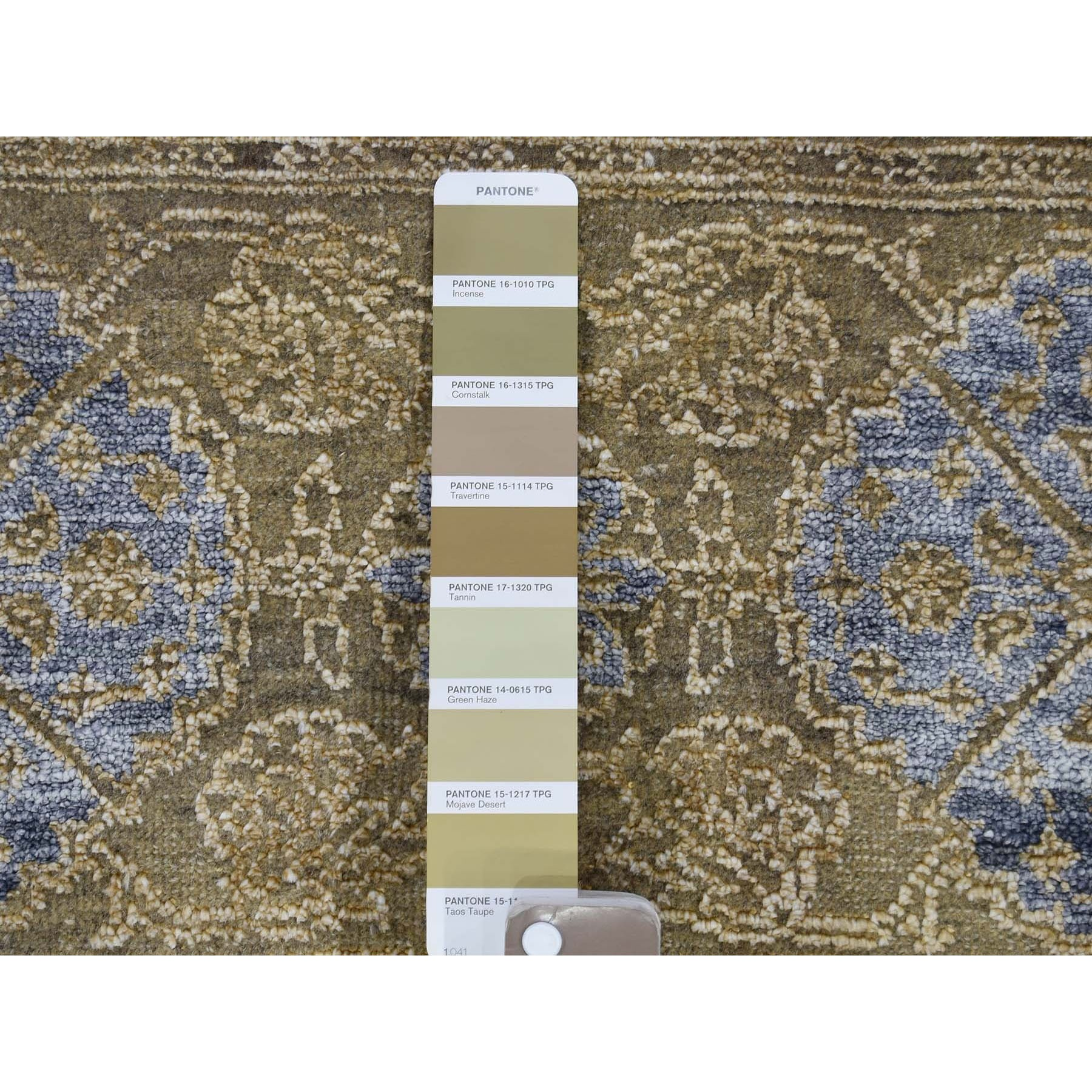 """9'1""""x12' Mamluk Design Silk With Textured Wool Hand Knotted Oriental Rug"""