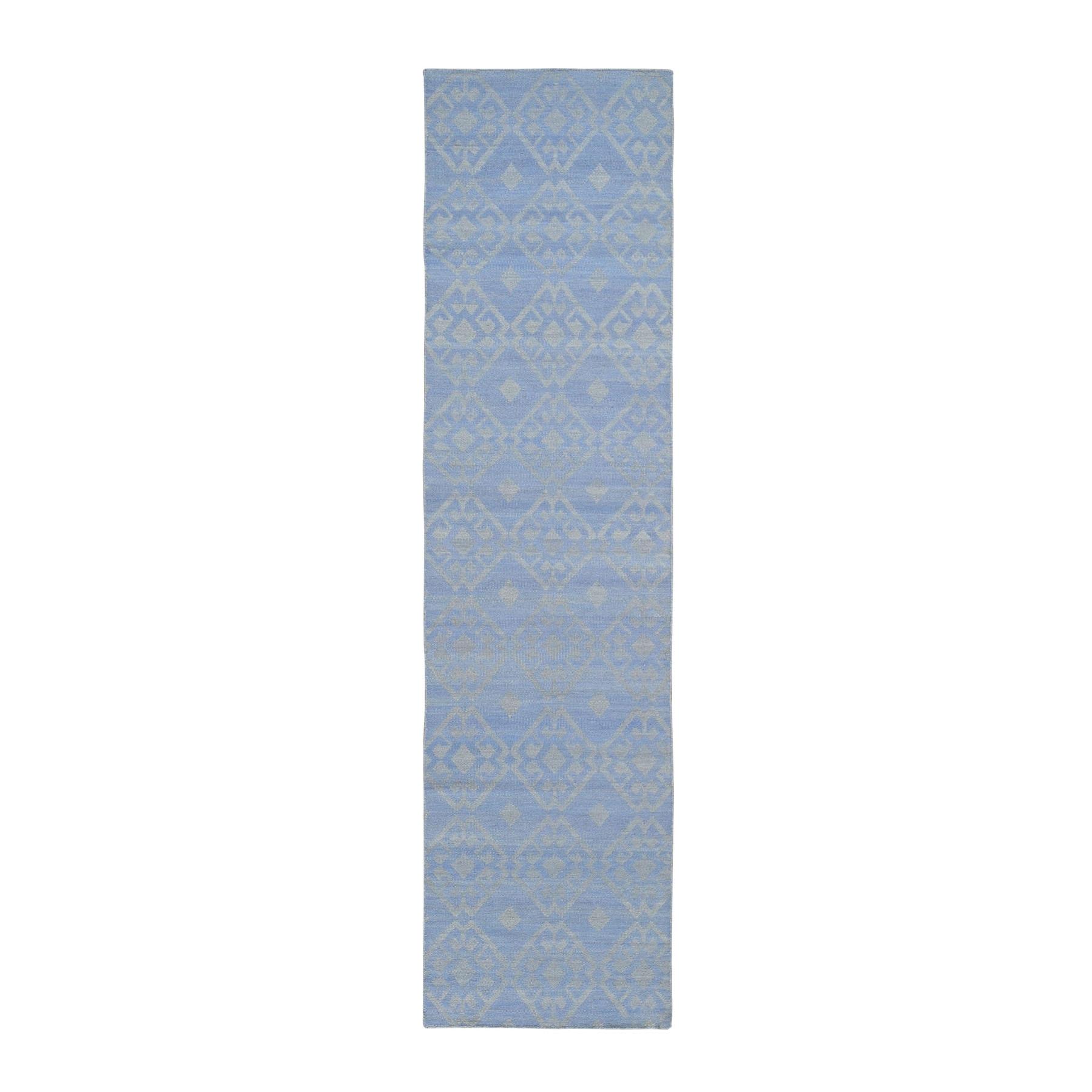 "2'7""X10' Pure Wool Reversible Kilim Flat Weave Hand Woven Oriental Rug moae9aa7"