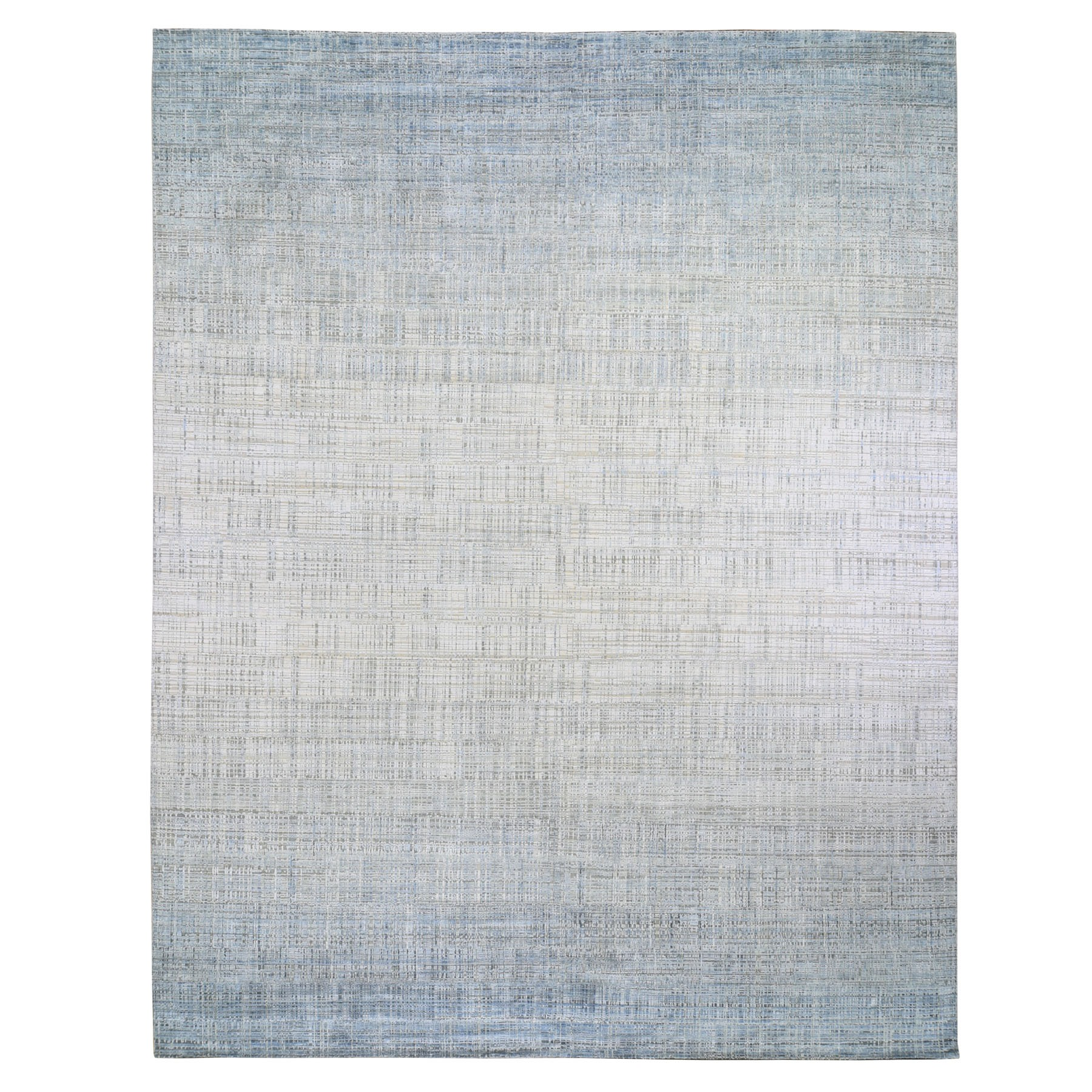 """11'10""""X14'10"""" Oversized Silk With Textured Wool Ombre Design Hand Knotted Oriental Rug moae9aee"""
