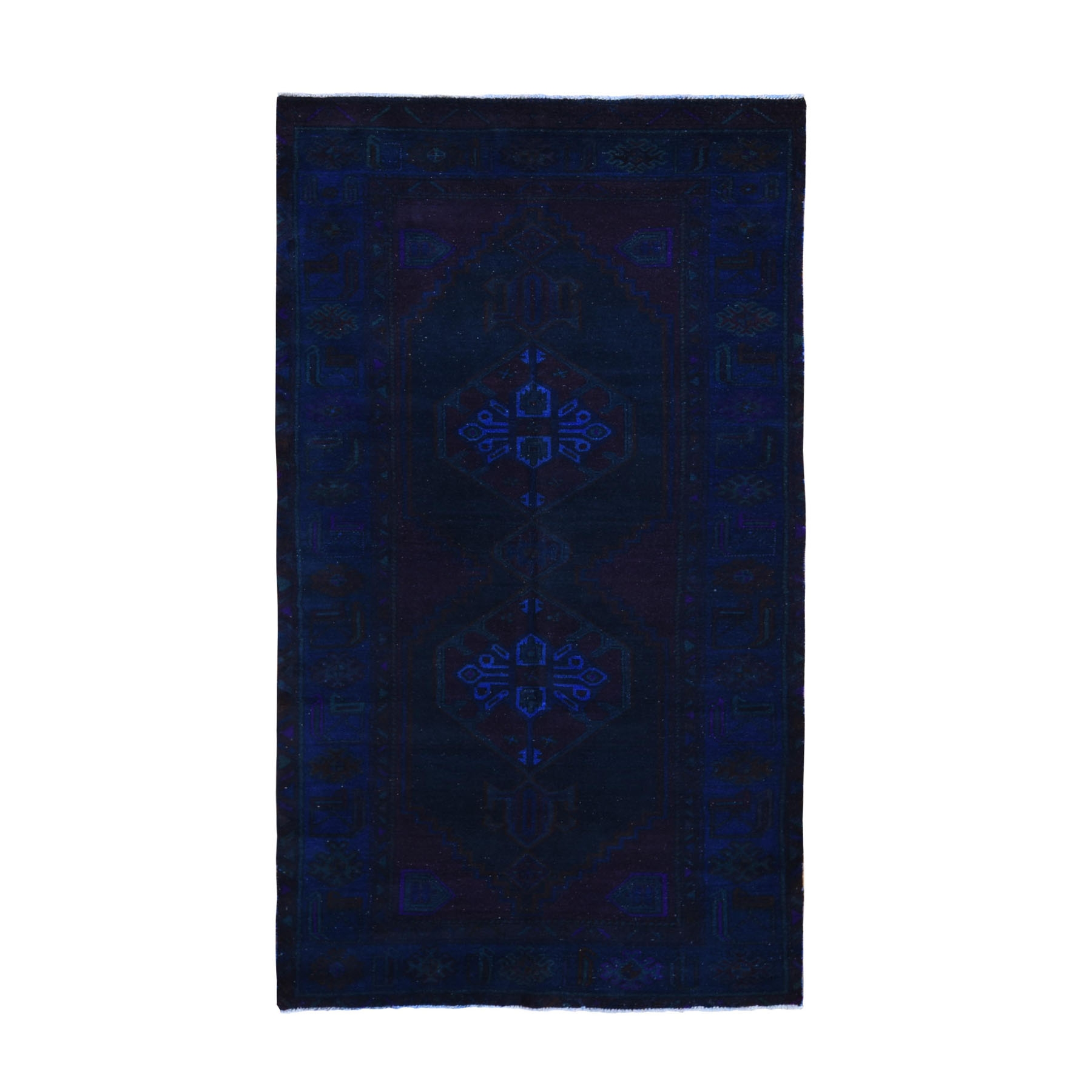 """4'8""""X8'7"""" Gallery Size Overdyed Persian Bakhtiari Worn Wool Hand Knotted Oriental Rug moae9a9d"""